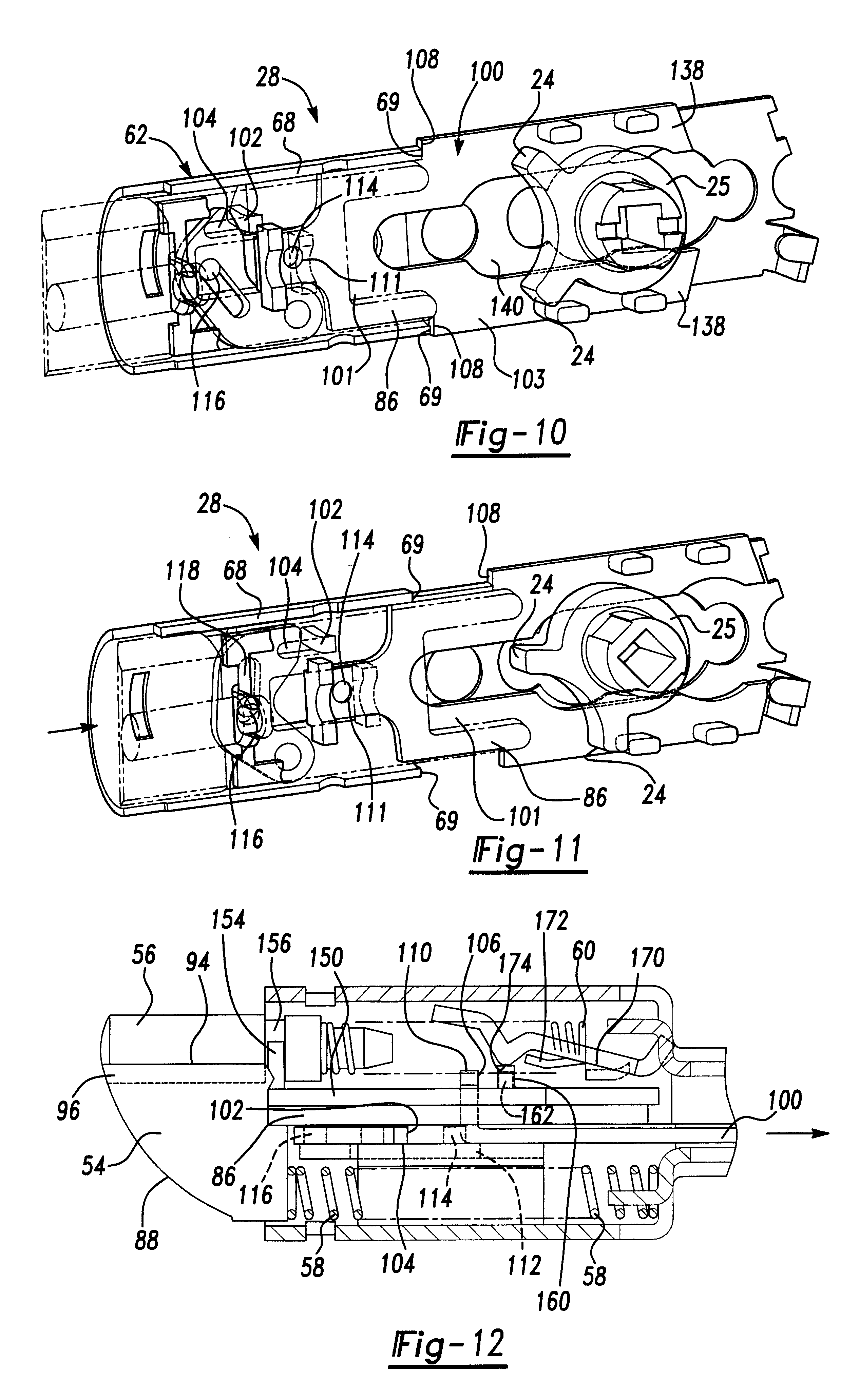 Patent US6612627 Door latch assembly with accelerated bolt