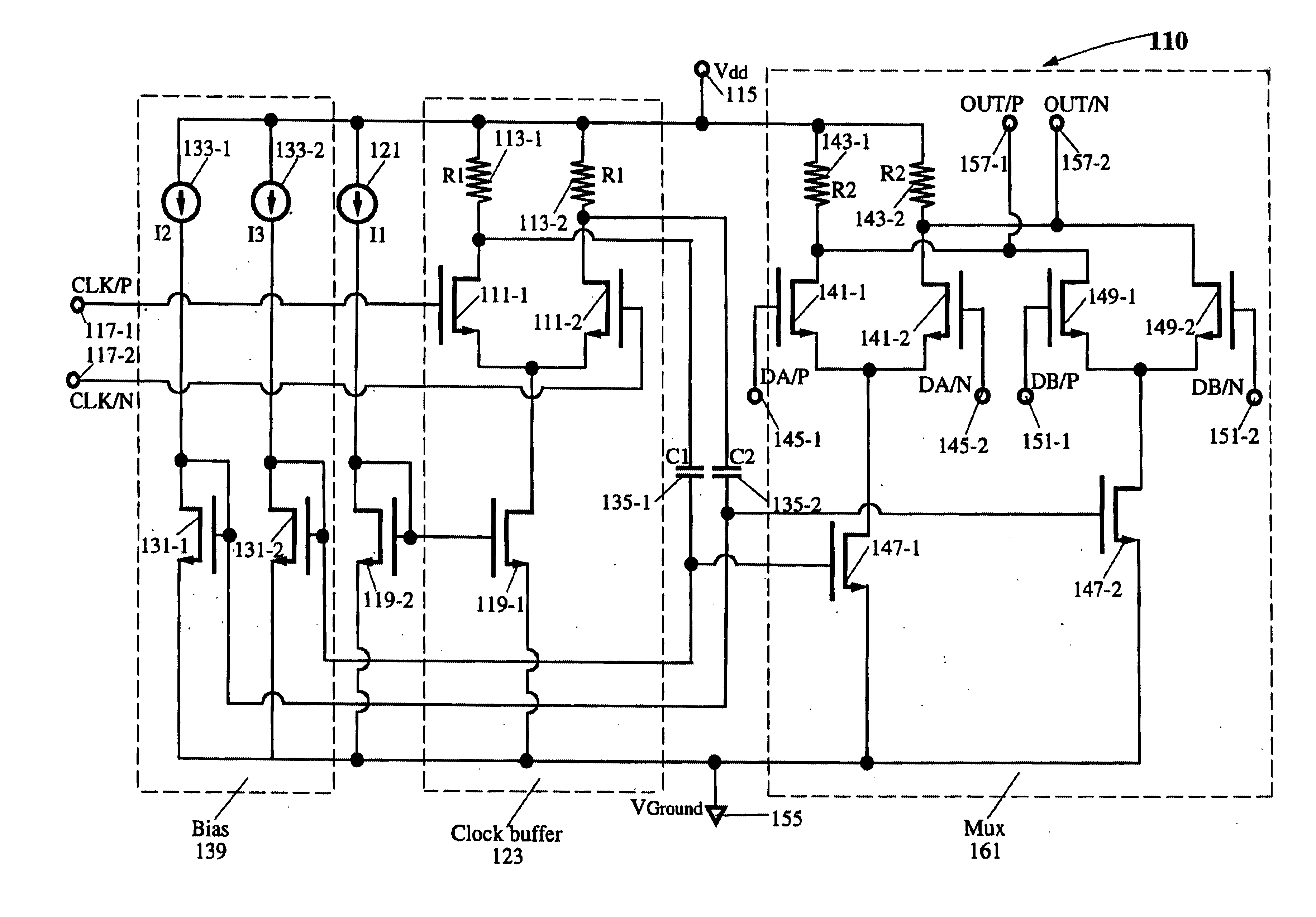 patent us6614291 - low voltage  high speed cmos cml latch and mux devices