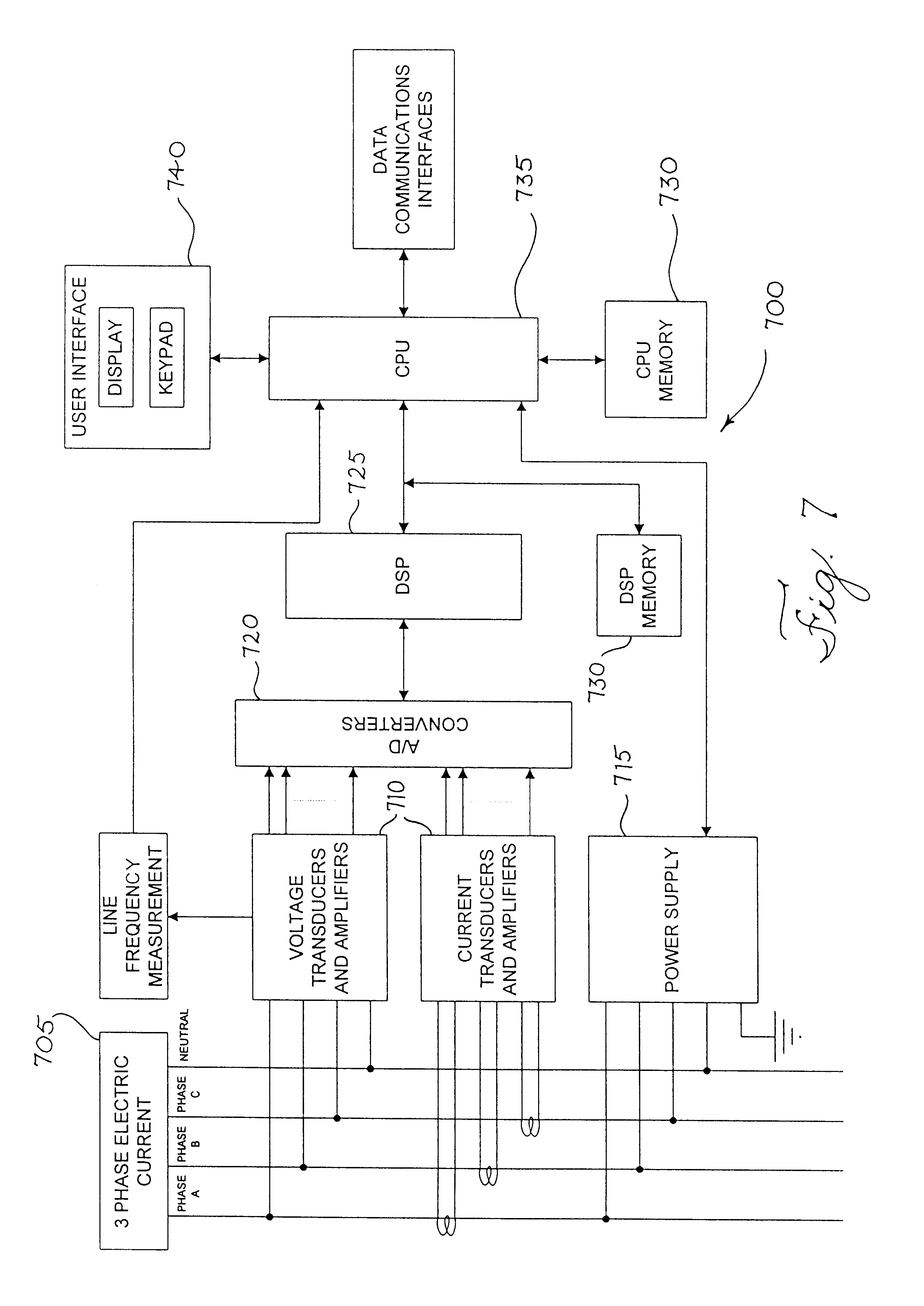 patent us6615147 revenue meter power quality features patent drawing