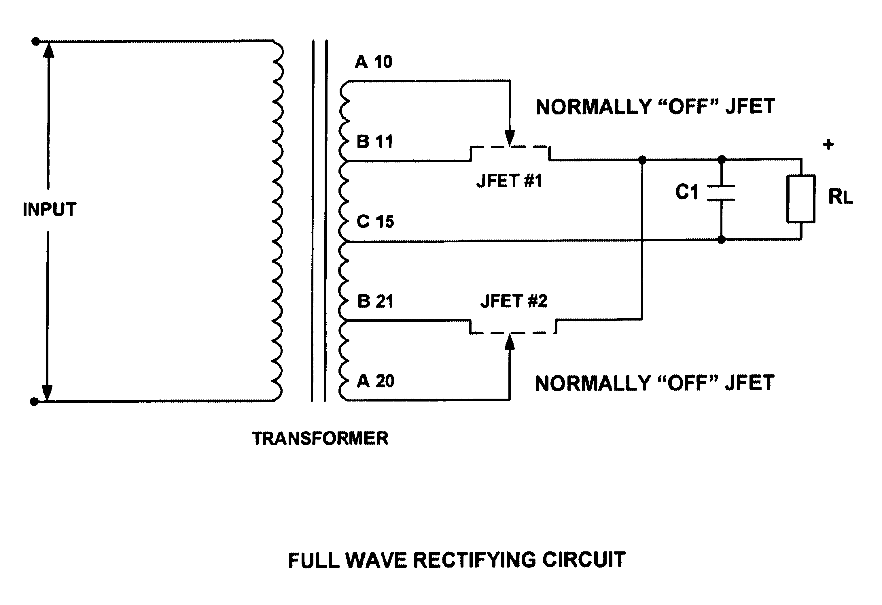 Patent Us6621722 Rectifier Circuits With Low Forward Voltage Jfet Circuit Drawing