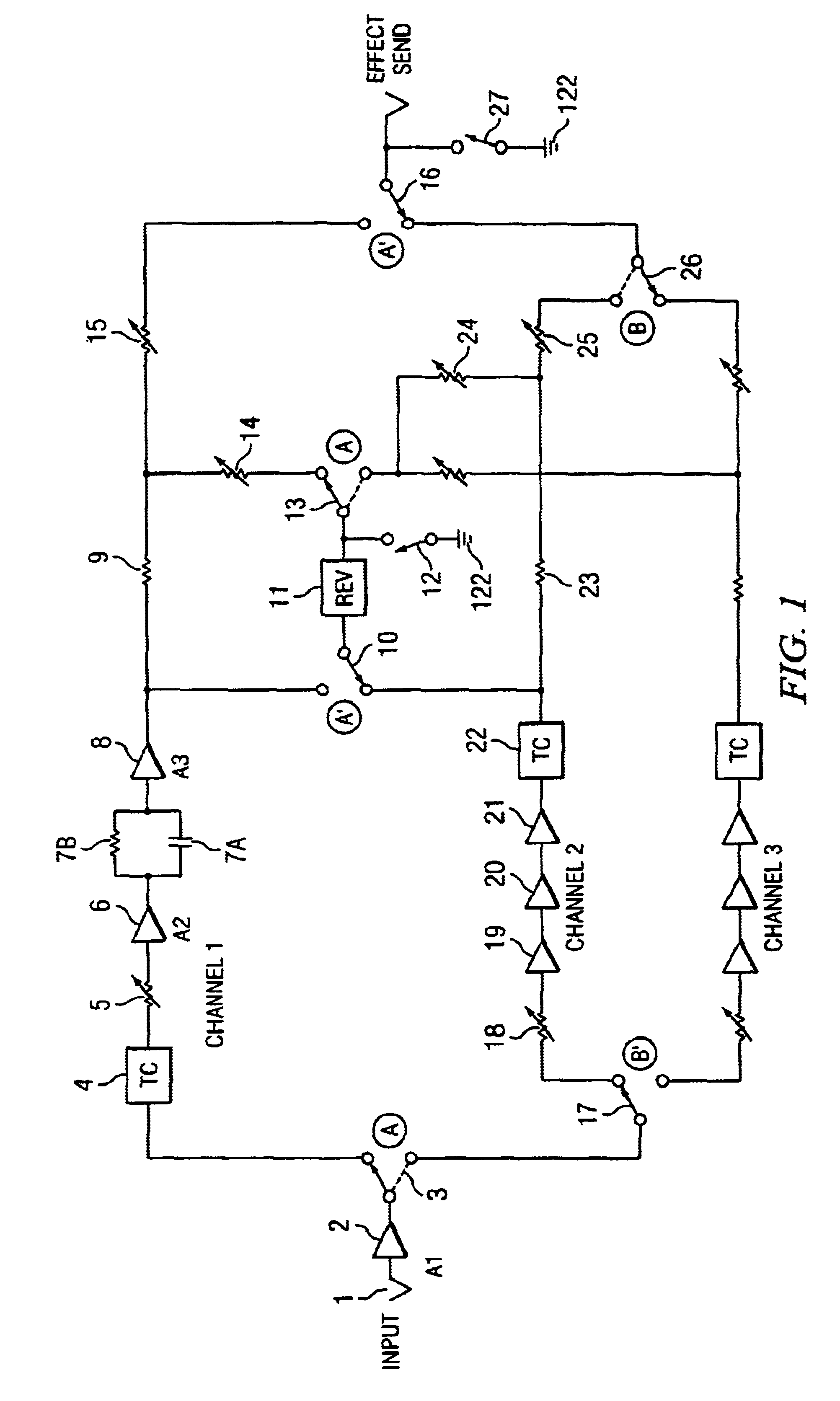 patent us6621907 - mute circuit for use with switching relays