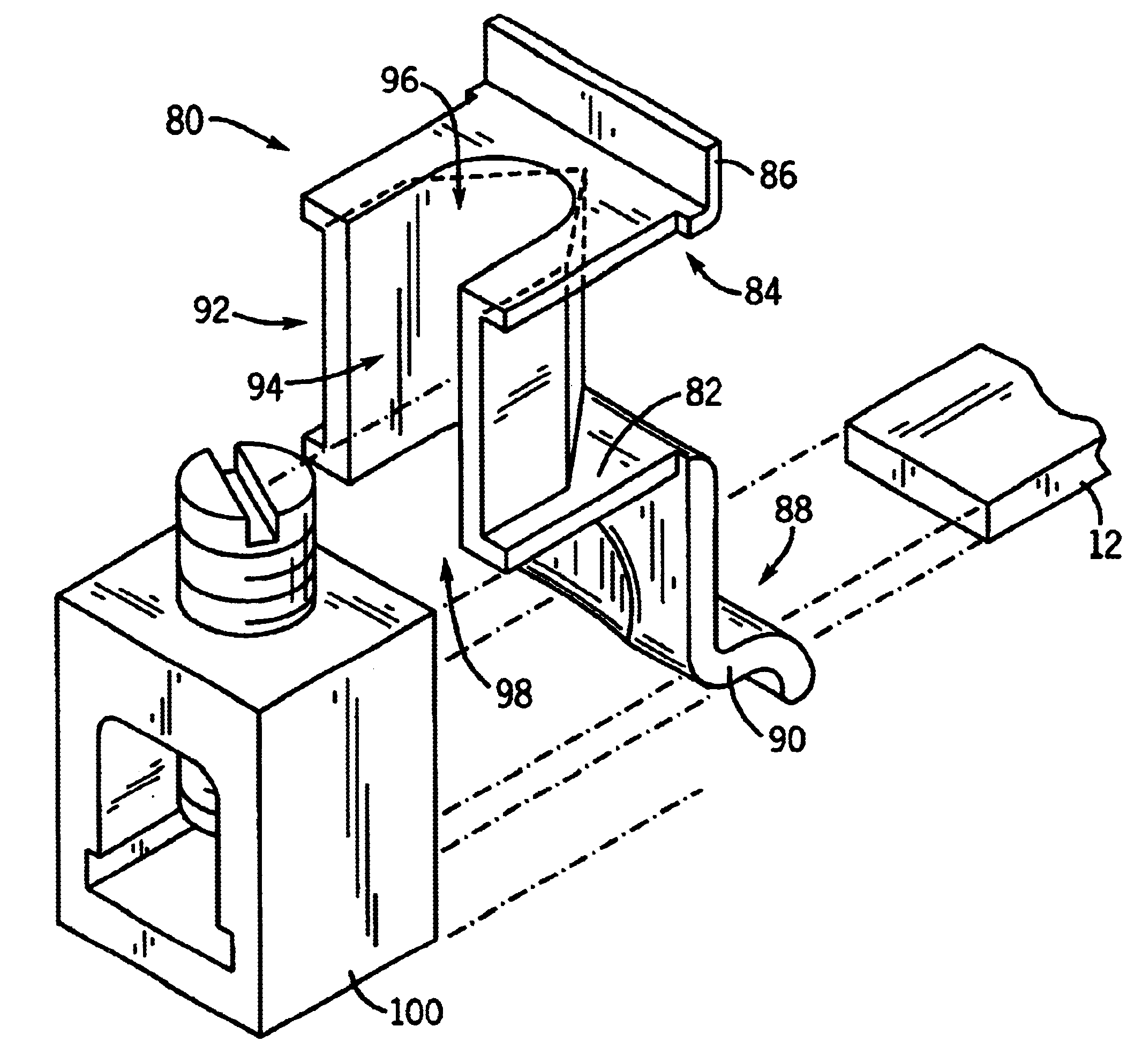patent us6624375 - wire lug  arc vent barrier molded case circuit breaker