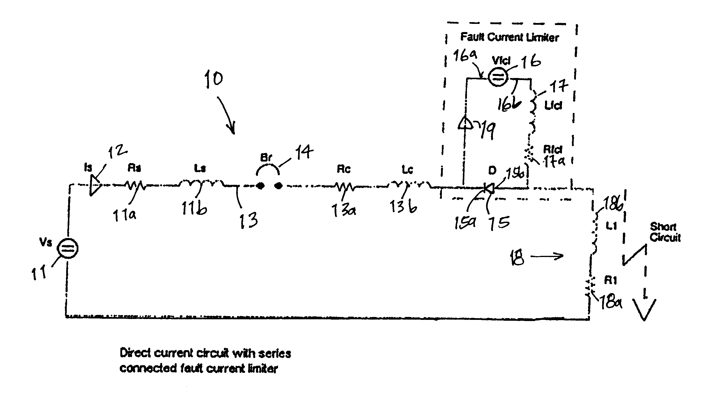 patent us6624993 - adjustable direct current and pulsed circuit fault current limiter