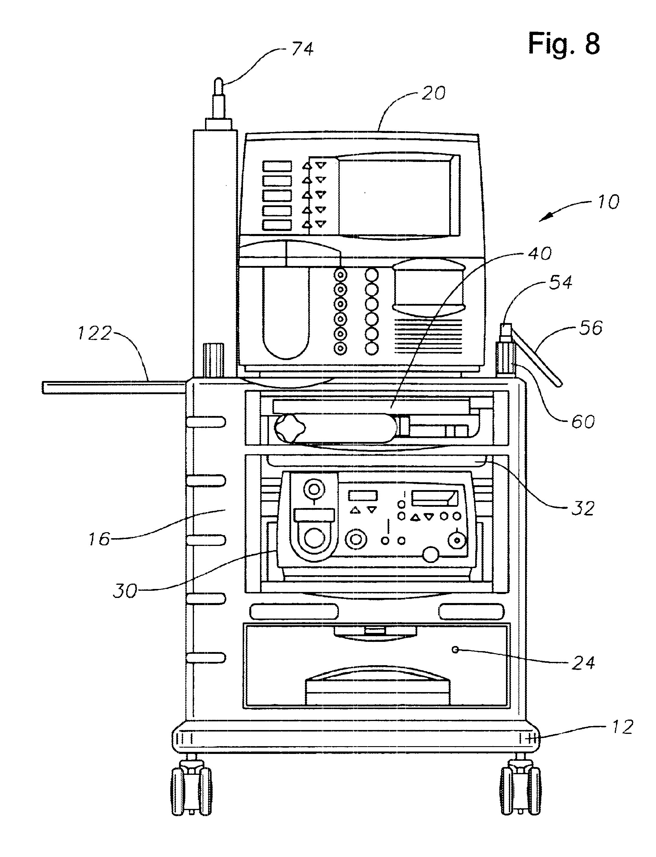 Patent Us6626445 Cart For Surgical Console Google Patents Circuit Diagram Water Level Indicator Drawing