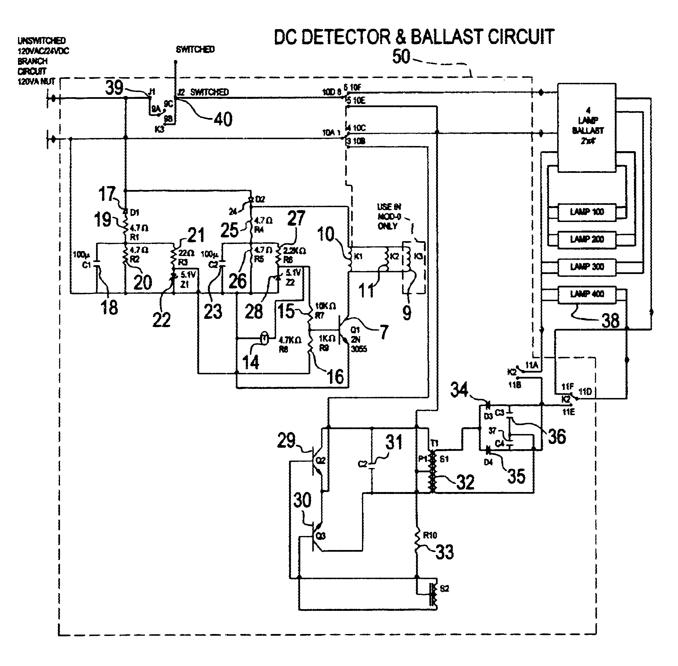 US06628083 20030930 D00000 patent us6628083 central battery emergency lighting system self contained emergency lighting wiring diagram at creativeand.co