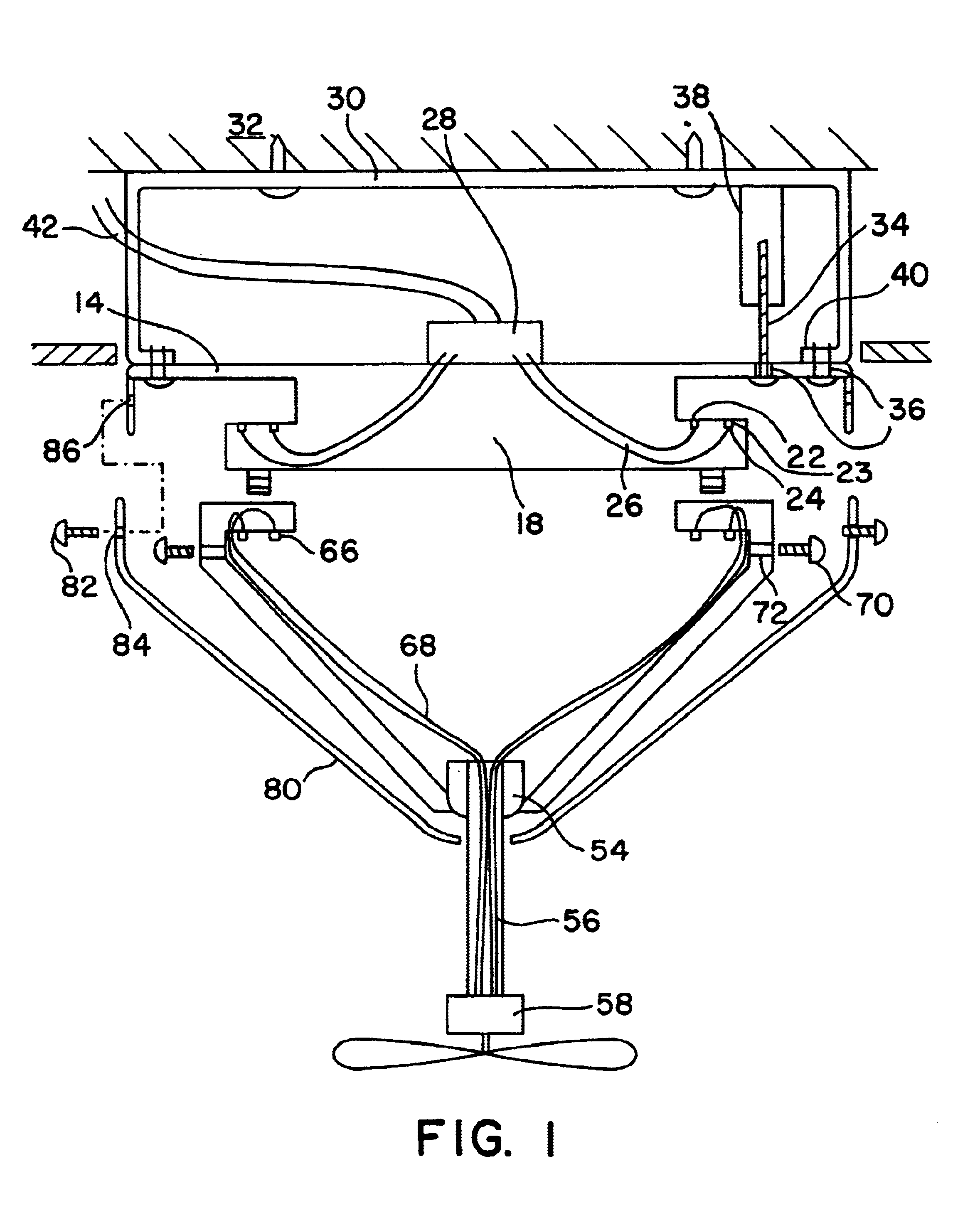 US06634901 20031021 D00001 patent us6634901 quick connect device for electrical fixture ceiling fan wiring harness at mifinder.co