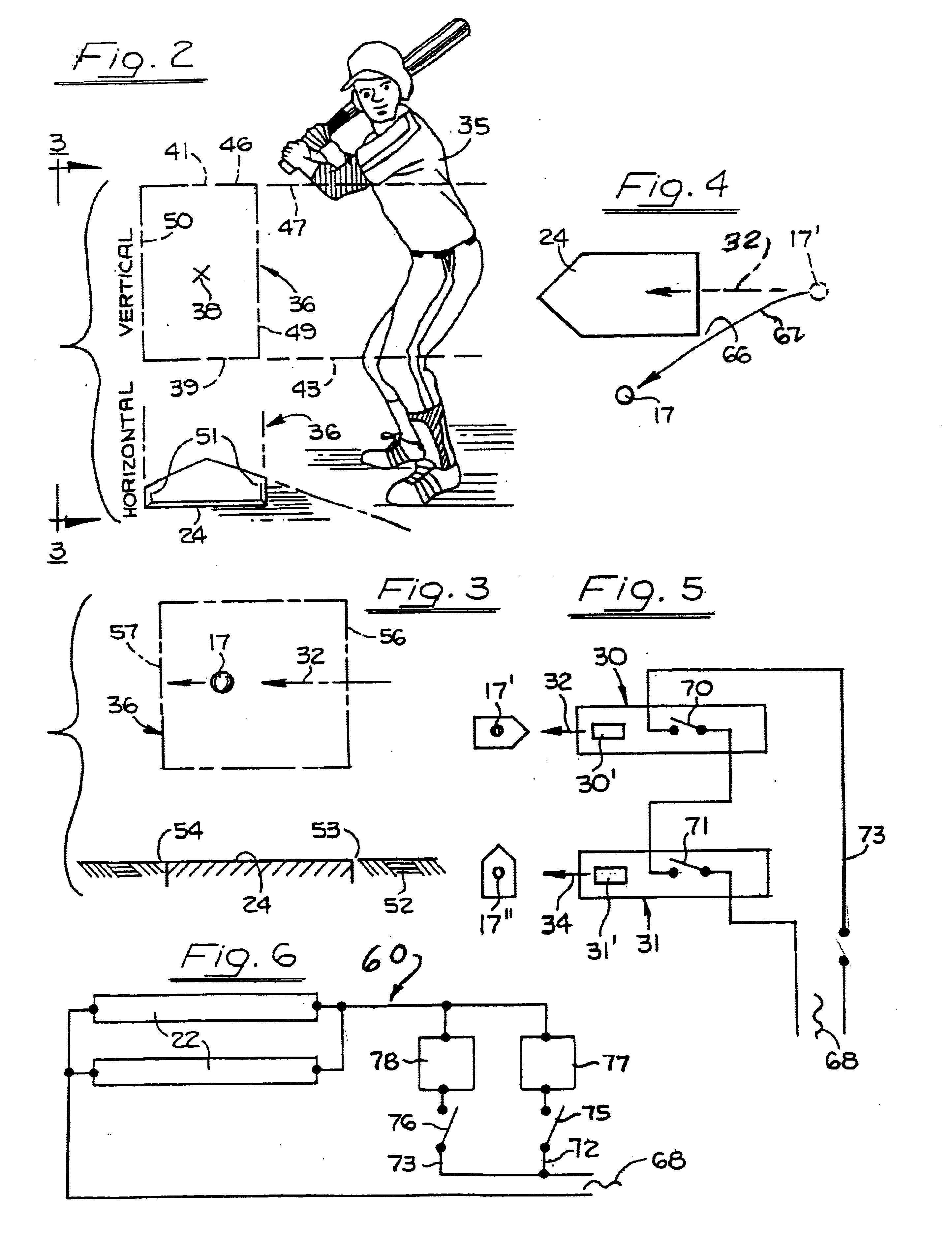 Patent US6634967 - Baseball umpiring system - Google Patents