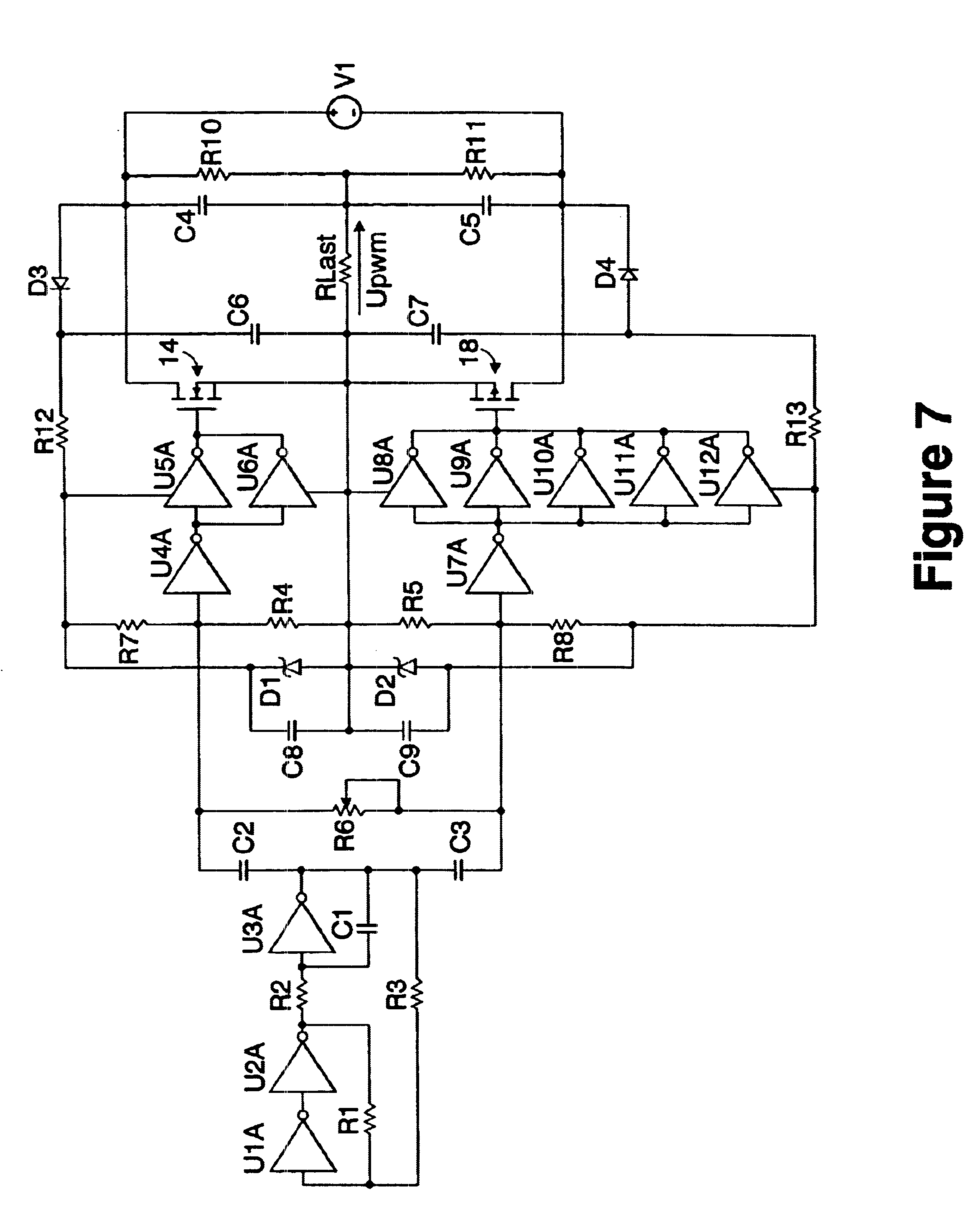 Patent Us6636024 Switching Voltage Converter With Half Bridge Divider Circuit Example Drawing