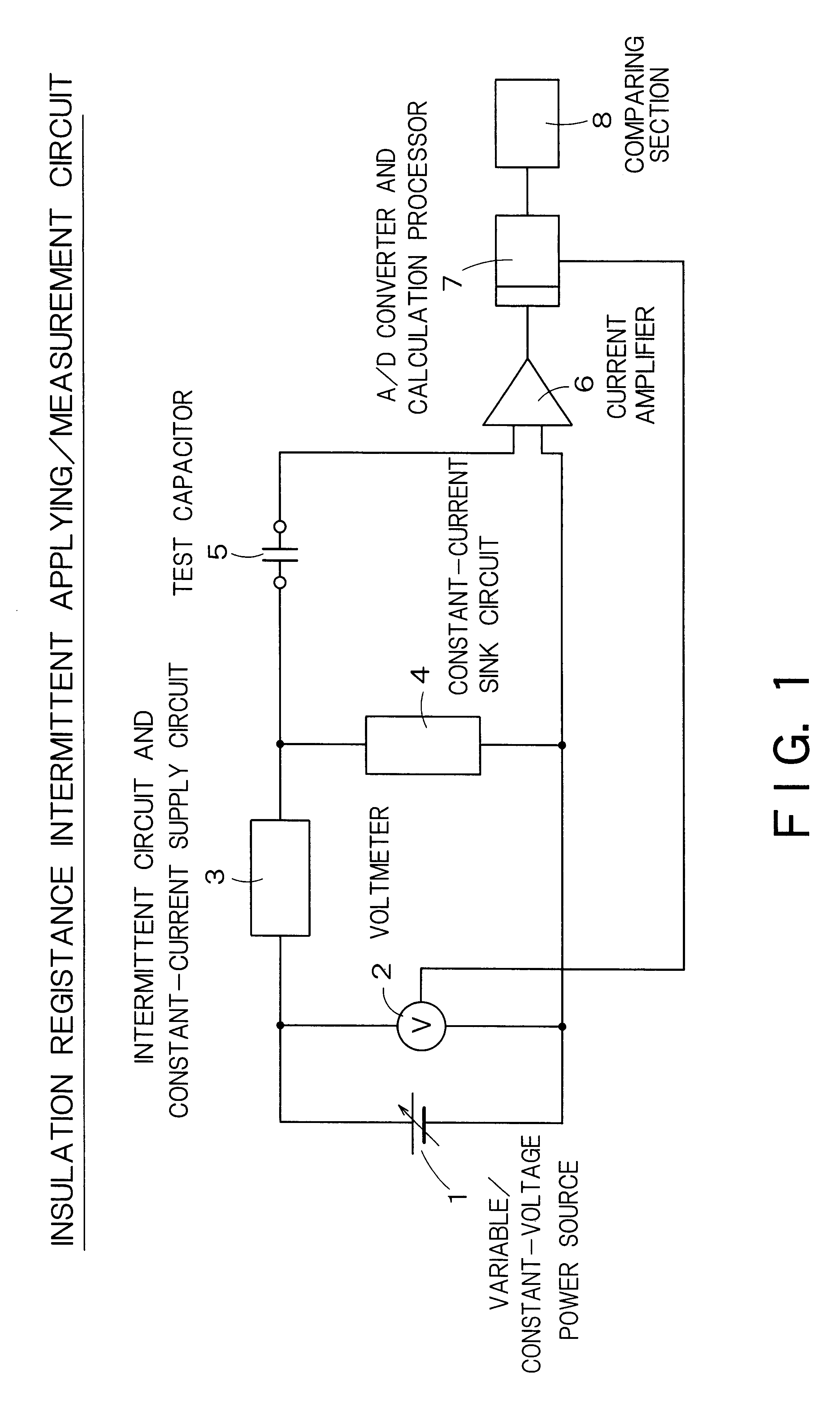 Brevet Us6642721 Method Of Measuring Insulation Resistance Constant Current Source Circuit Patent Drawing