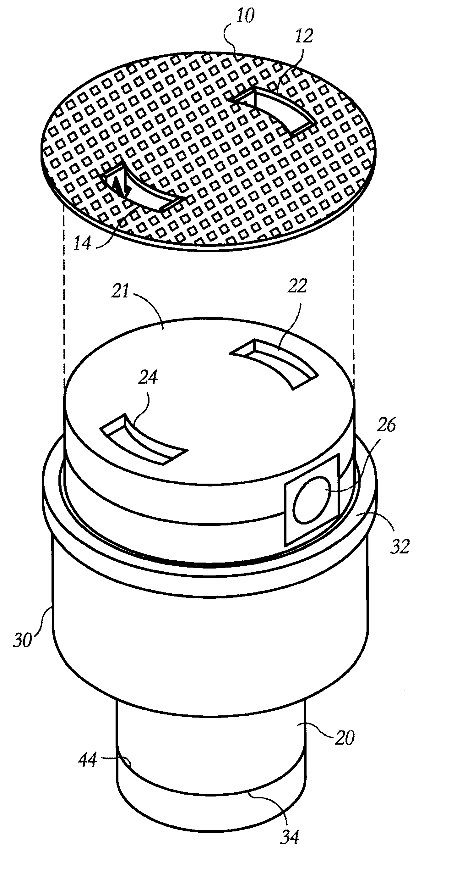 Patent Us6643857 Decorative Cover For Swimming Pool Pop Up Cleaning Heads Google Patenten