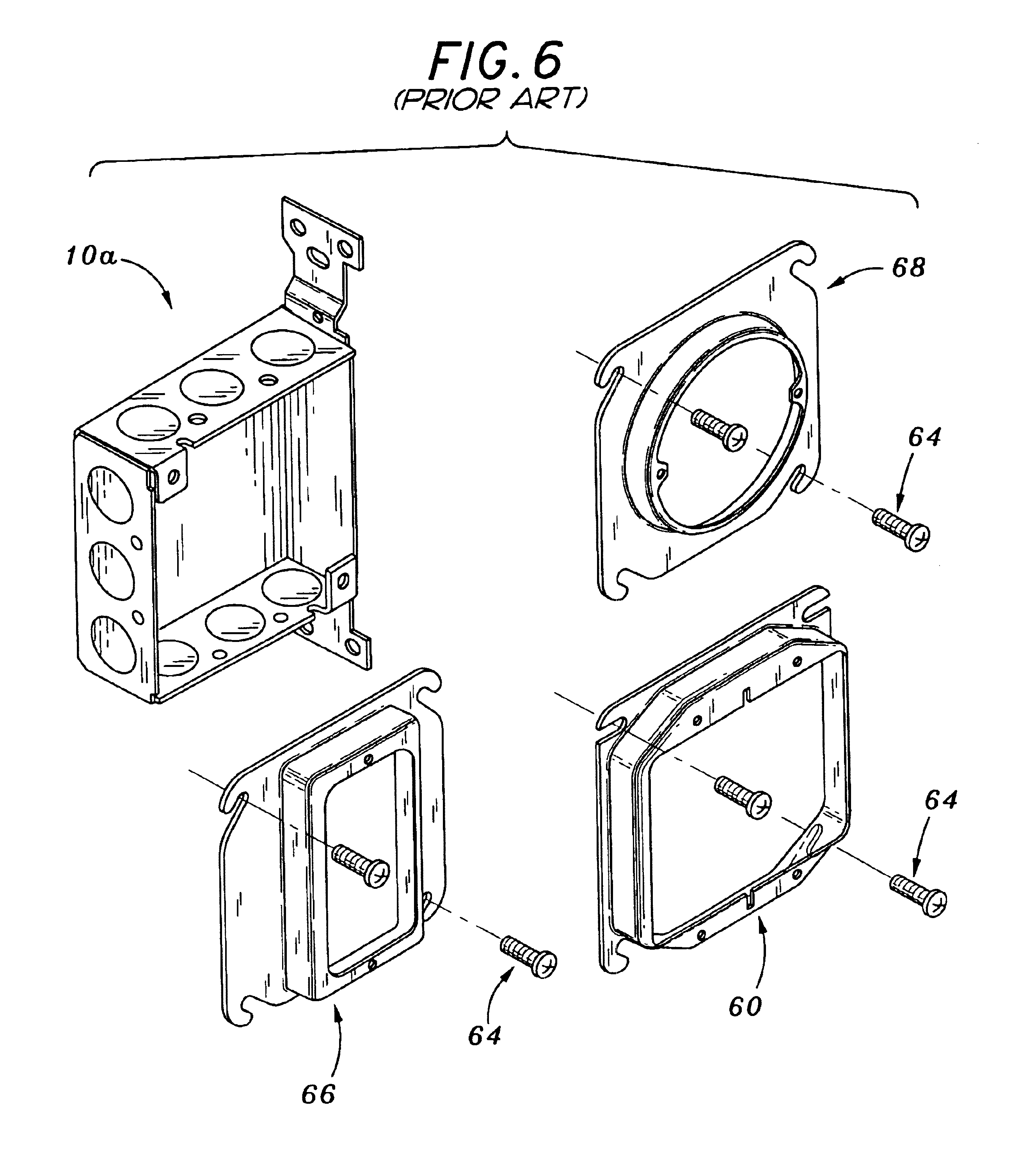 patent us6649835 - sub-exterior electrical box waterproofing system