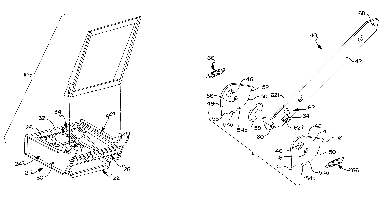 Patent Us6655732 Multiple Position Leg Rest Mechanism