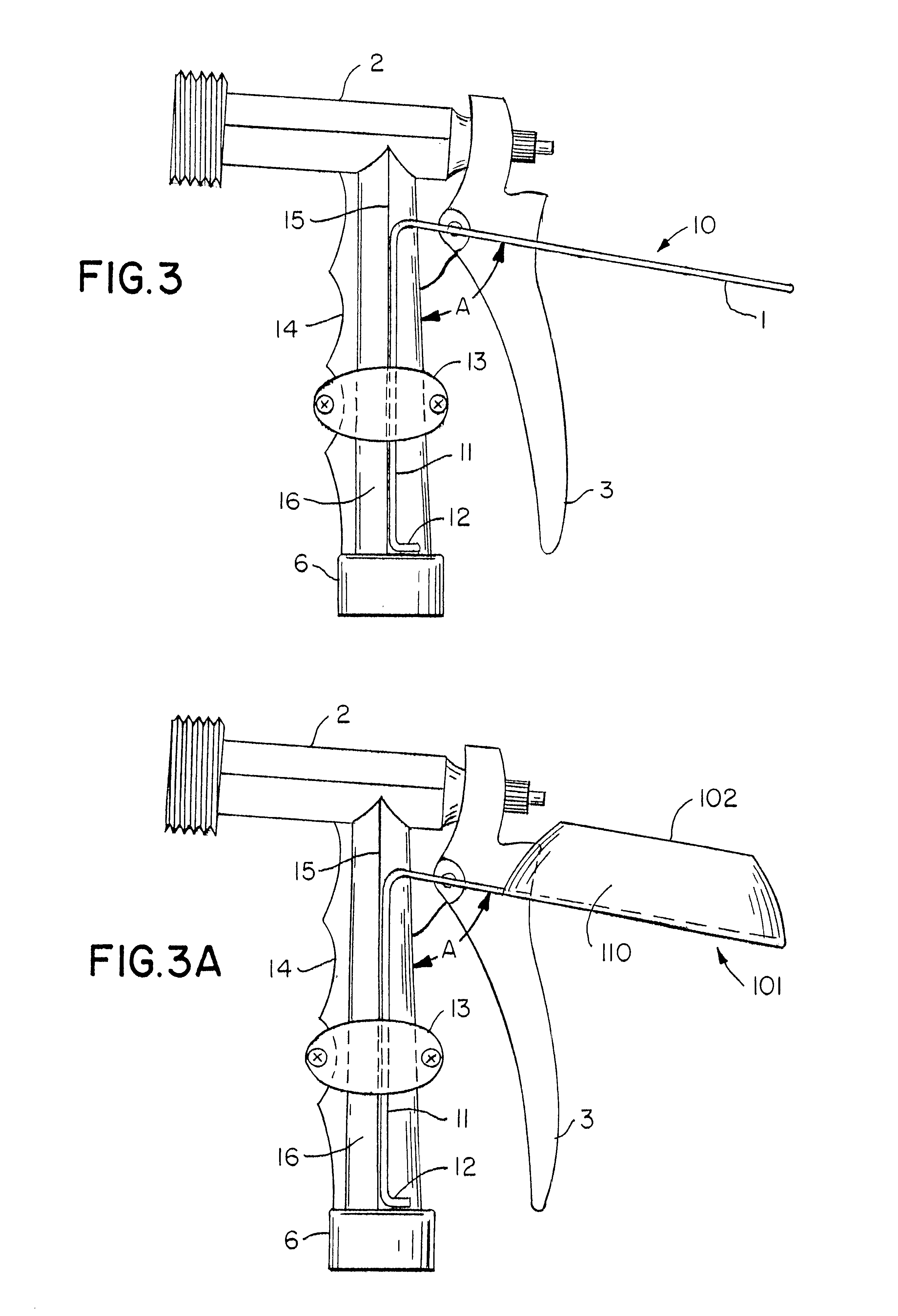 Patent US6663022  Looped trigger lever guard encircling