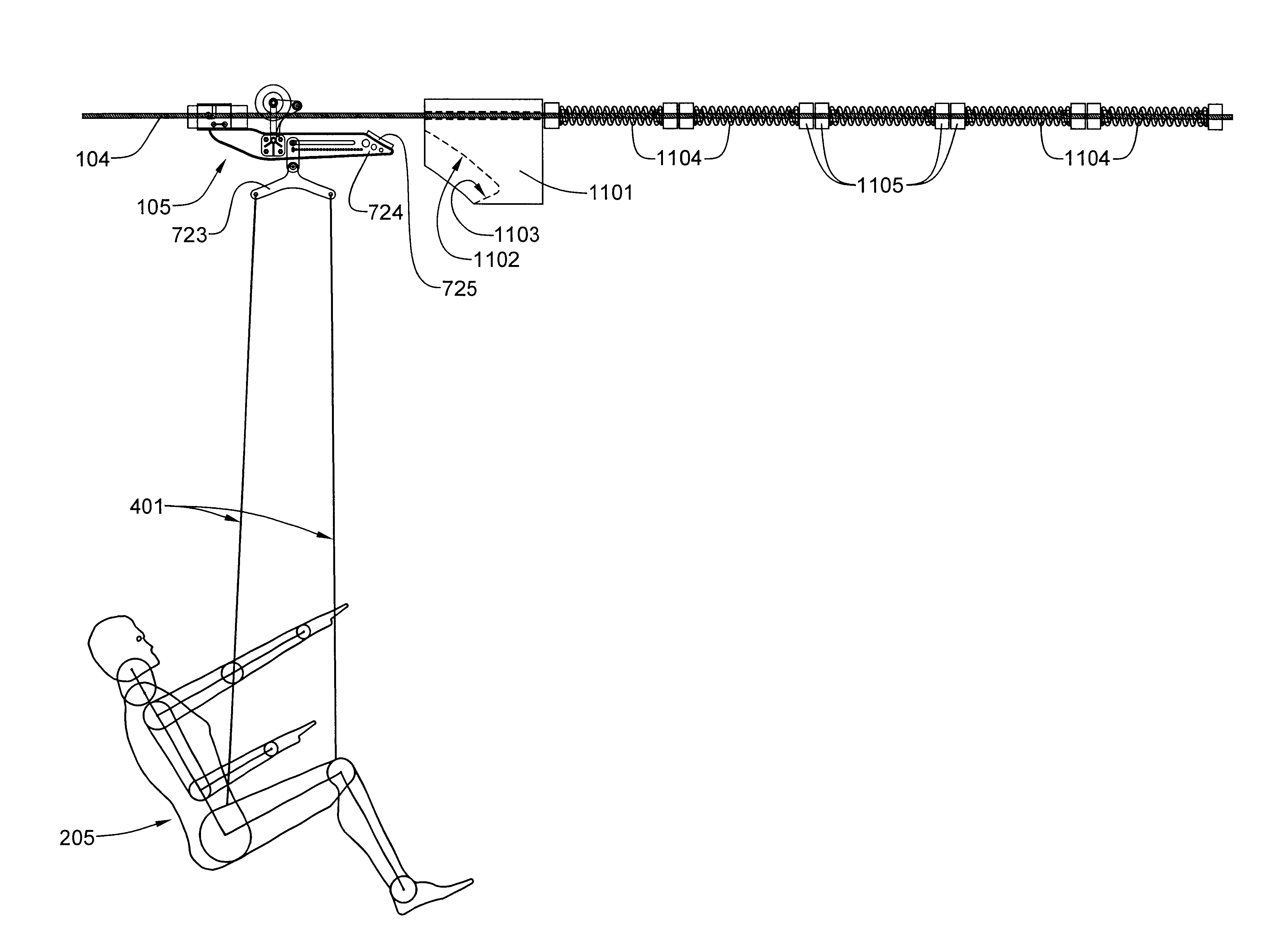 patent us6666773 downhill zip line thrill ride system google