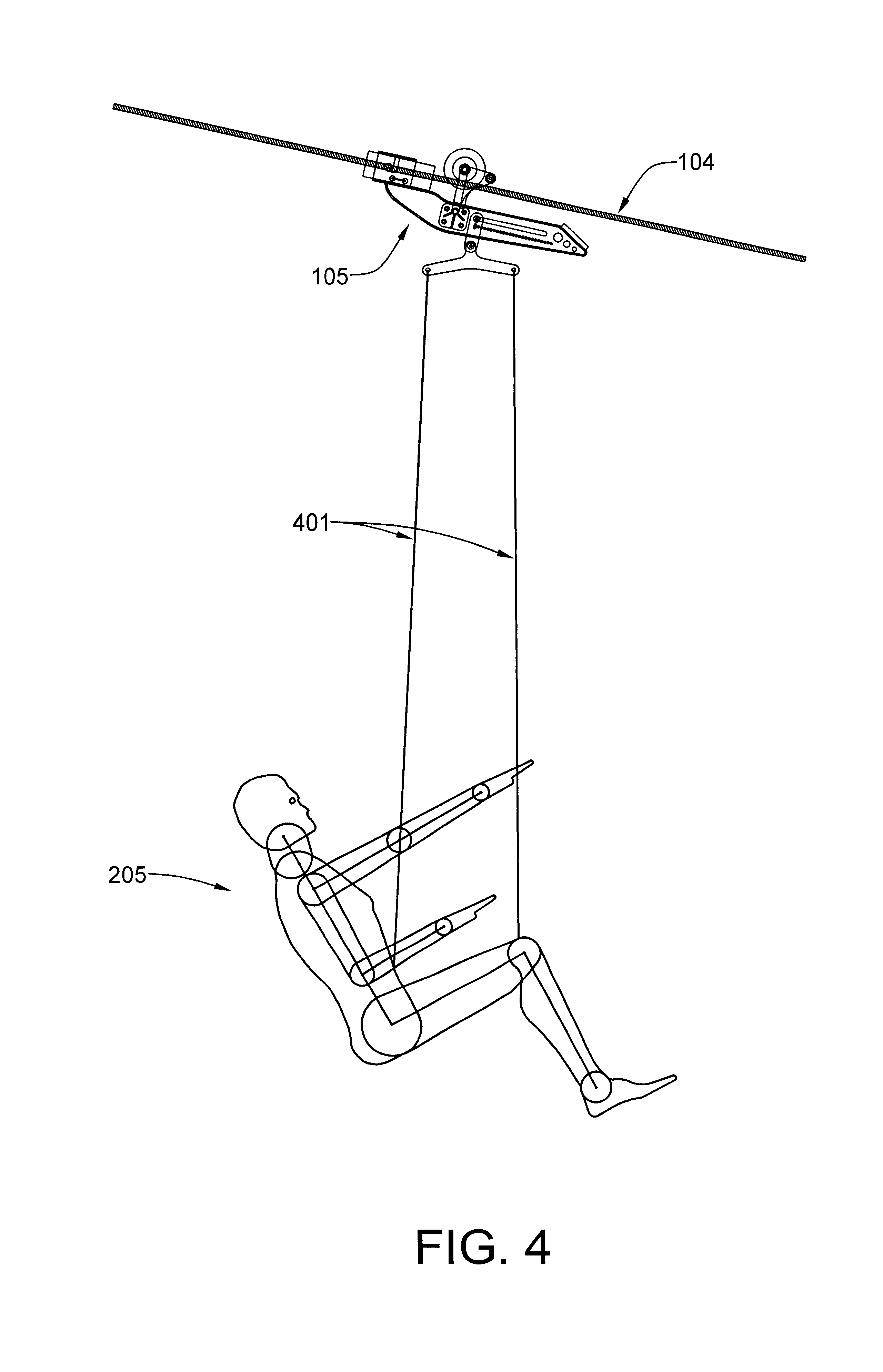 D Line Drawings Zip : Patent us downhill zip line thrill ride system