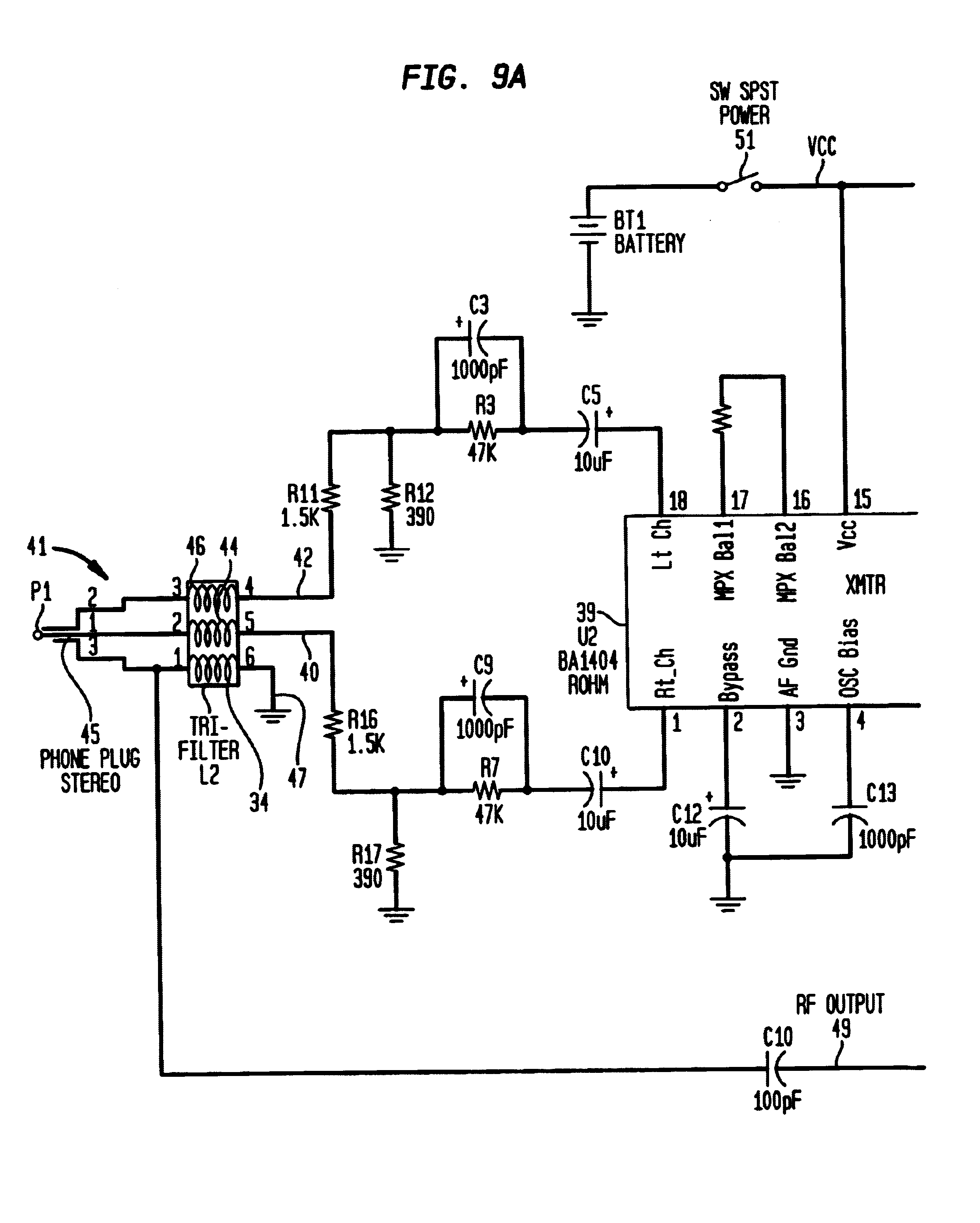 patent us6671494 small battery operated rf transmitter for patent drawing