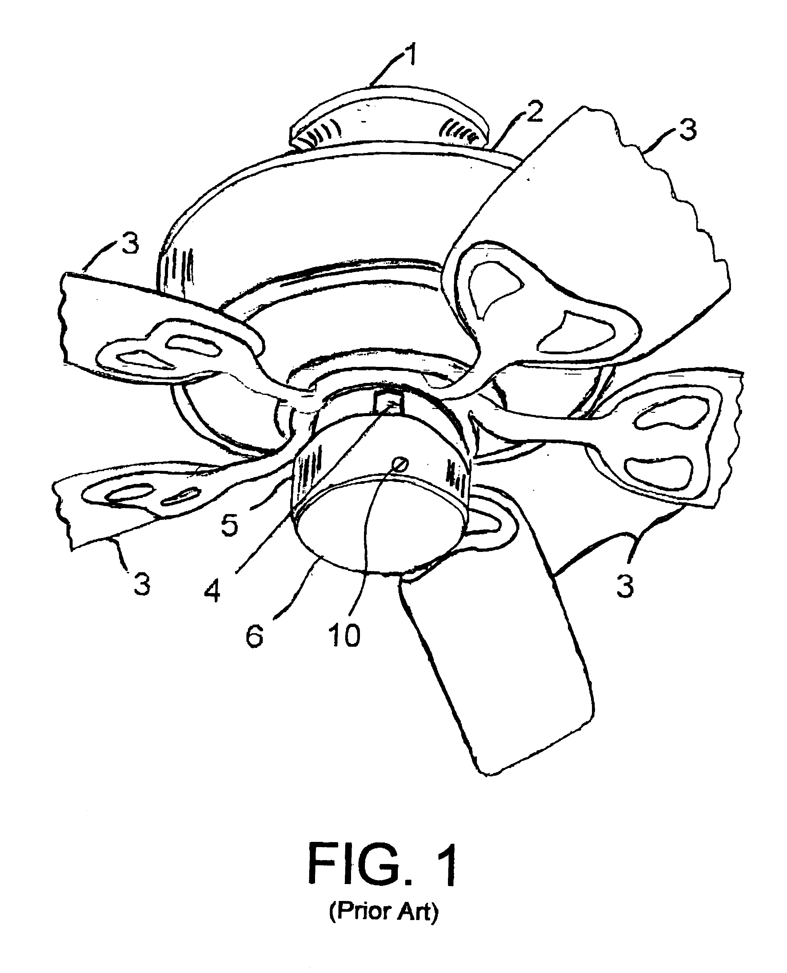 patent us6676375 chandelier adaptor for ceiling fan patents 4 Wire Fan Motor Wiring patent drawing