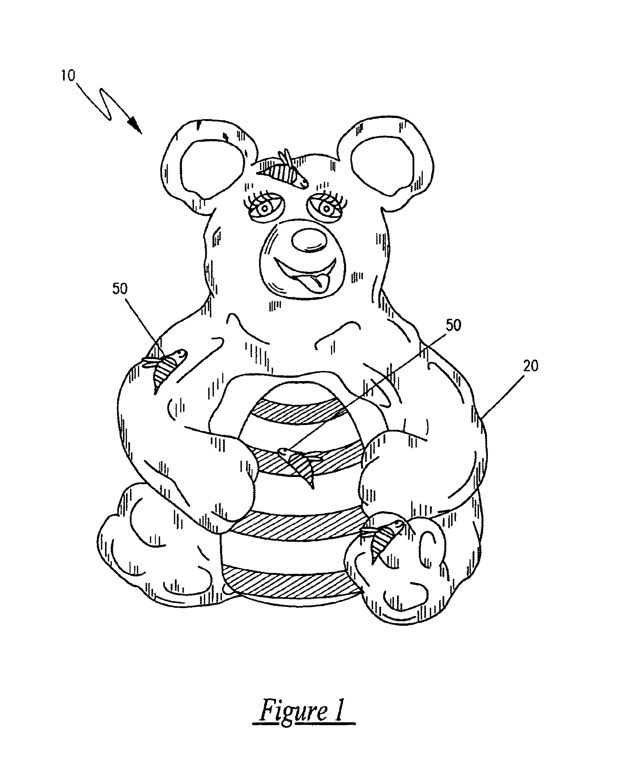 patent us teddy bear plush toy and game bination