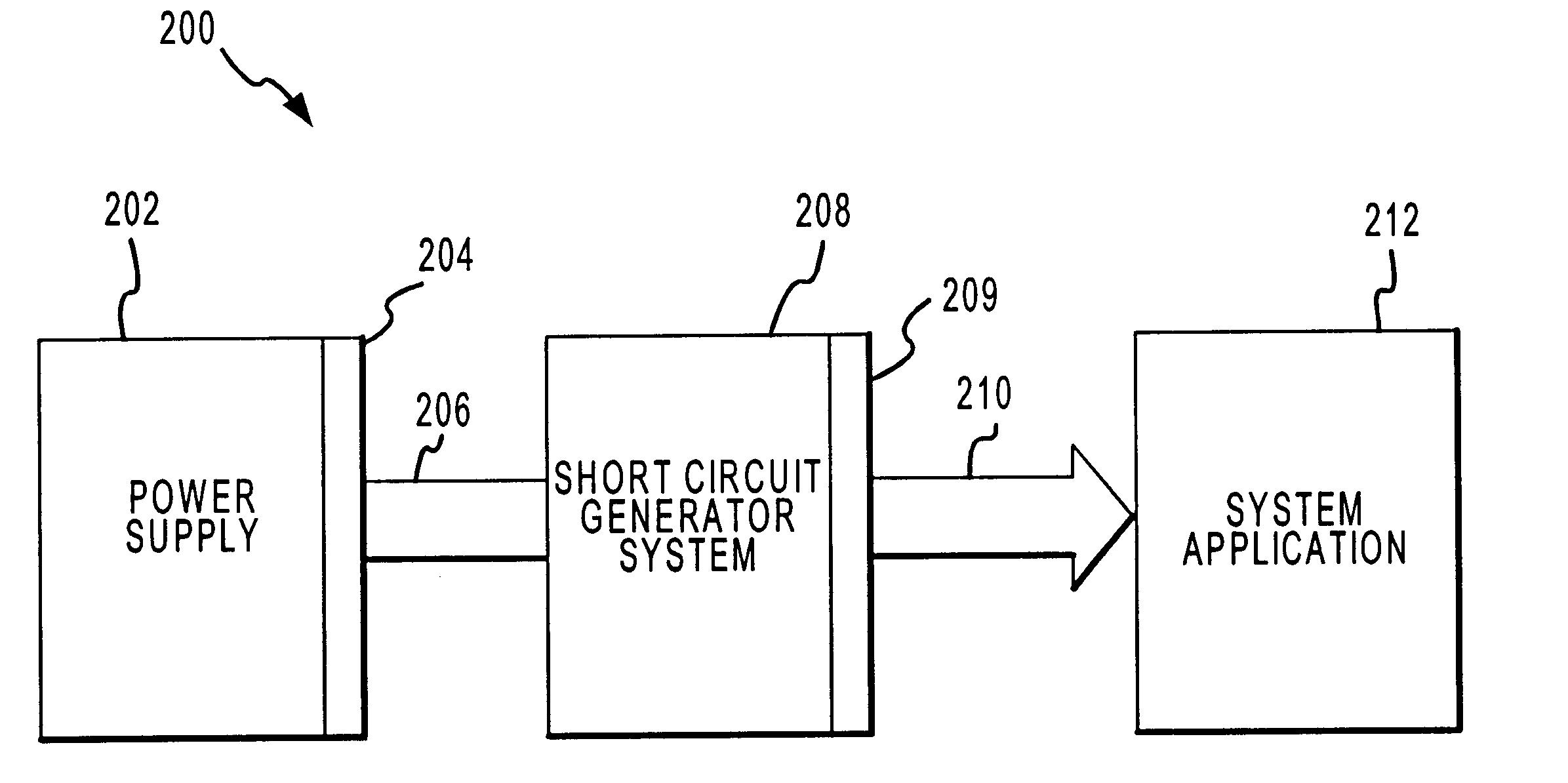 patent us6677777 - short circuit generator for testing power supplies