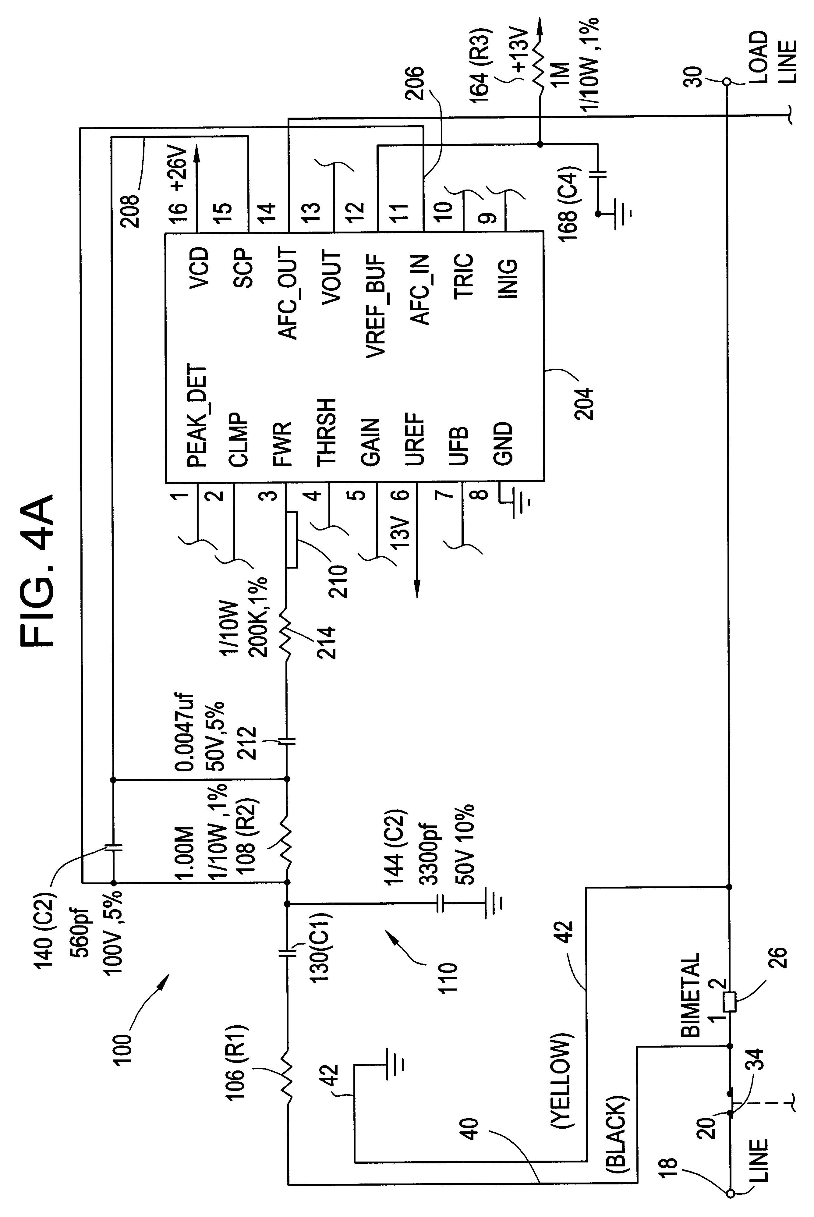 Afci Wiring Methods Diagrams Outlet Diagram Patent Us6678137 Temperature Compensation Circuit For An Receptacle