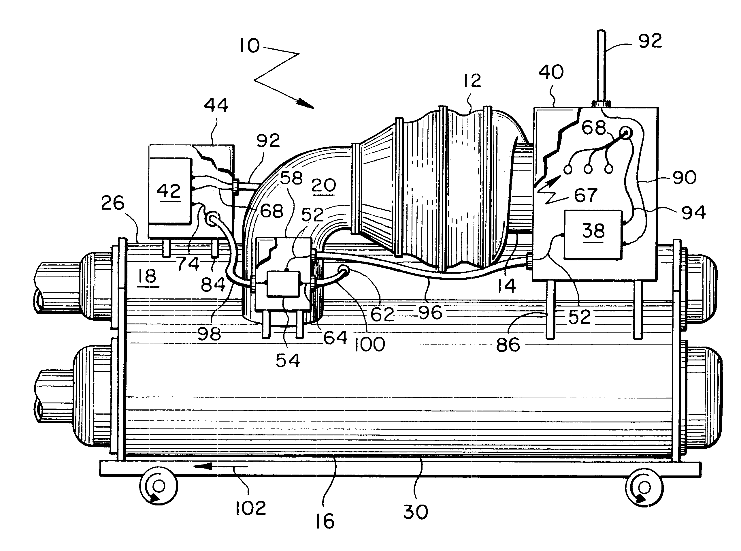Patent Us6679076 - Centrifugal Chiller With High Voltage Unit-mounted Starters