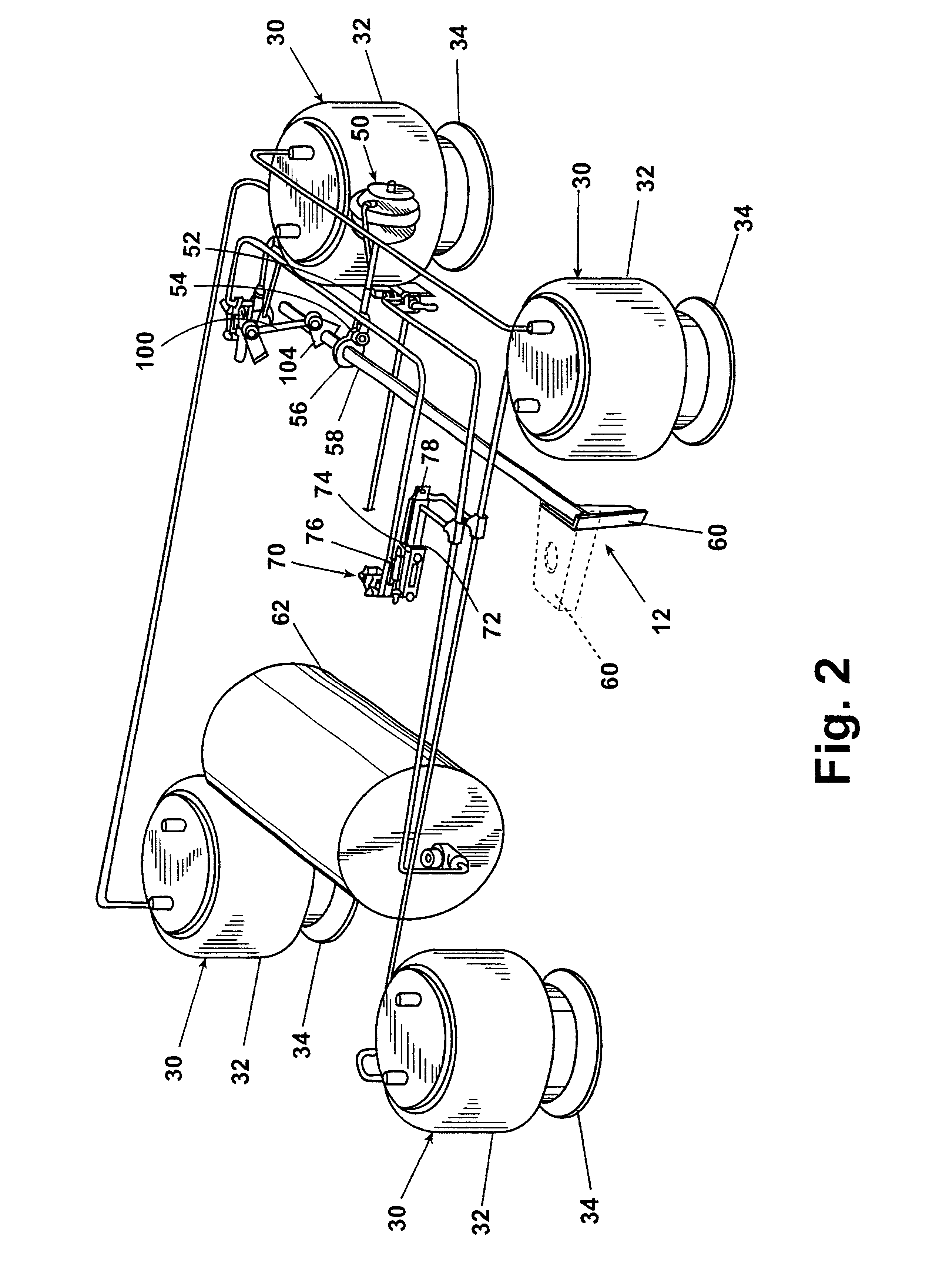 US06679509 20040120 D00002 patent us6679509 trailing arm suspension with anti creep lift axle wiring diagram at mifinder.co