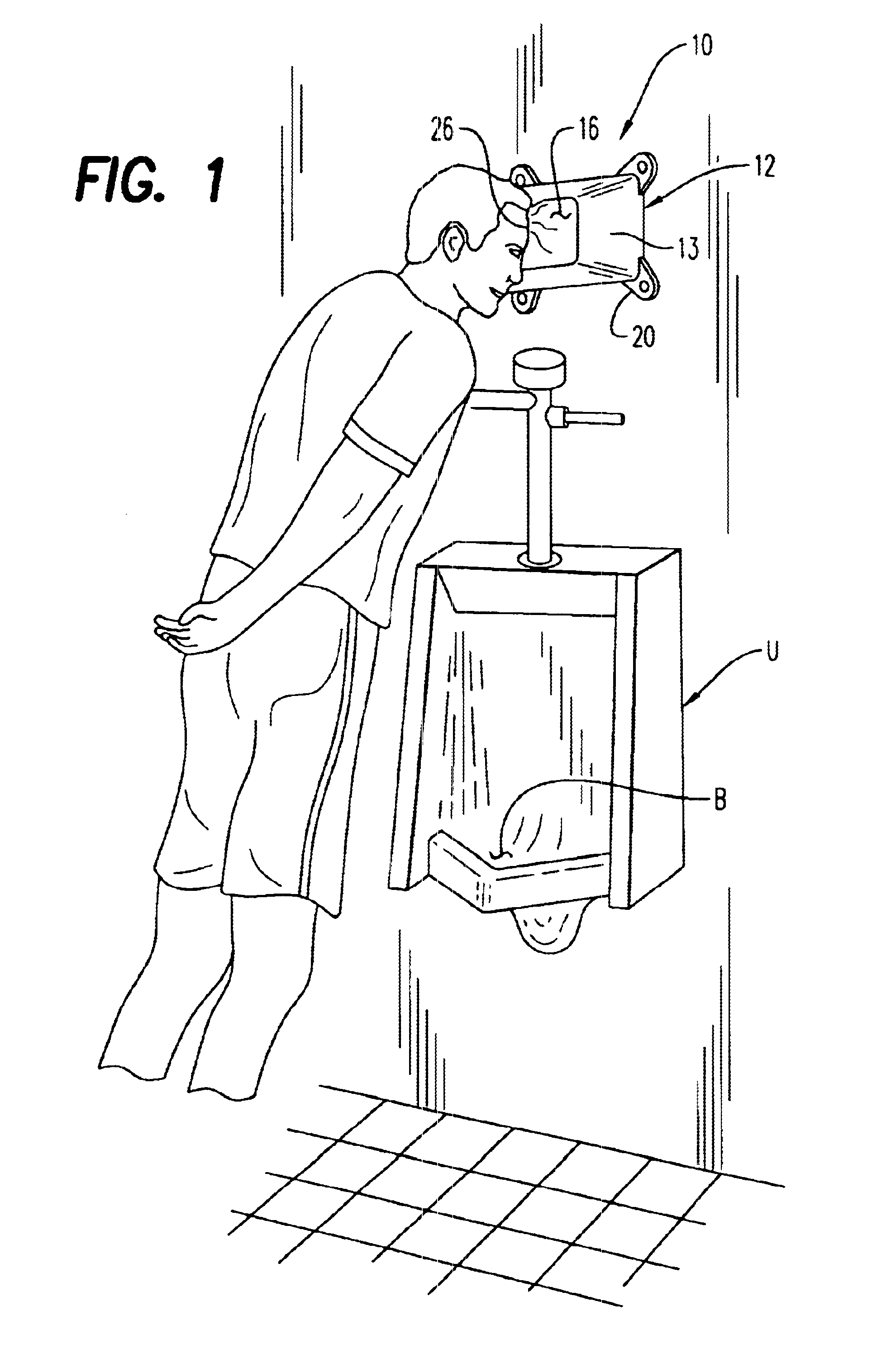 Patent Drawing. Patent US6681419   Forehead support apparatus   Google Patents