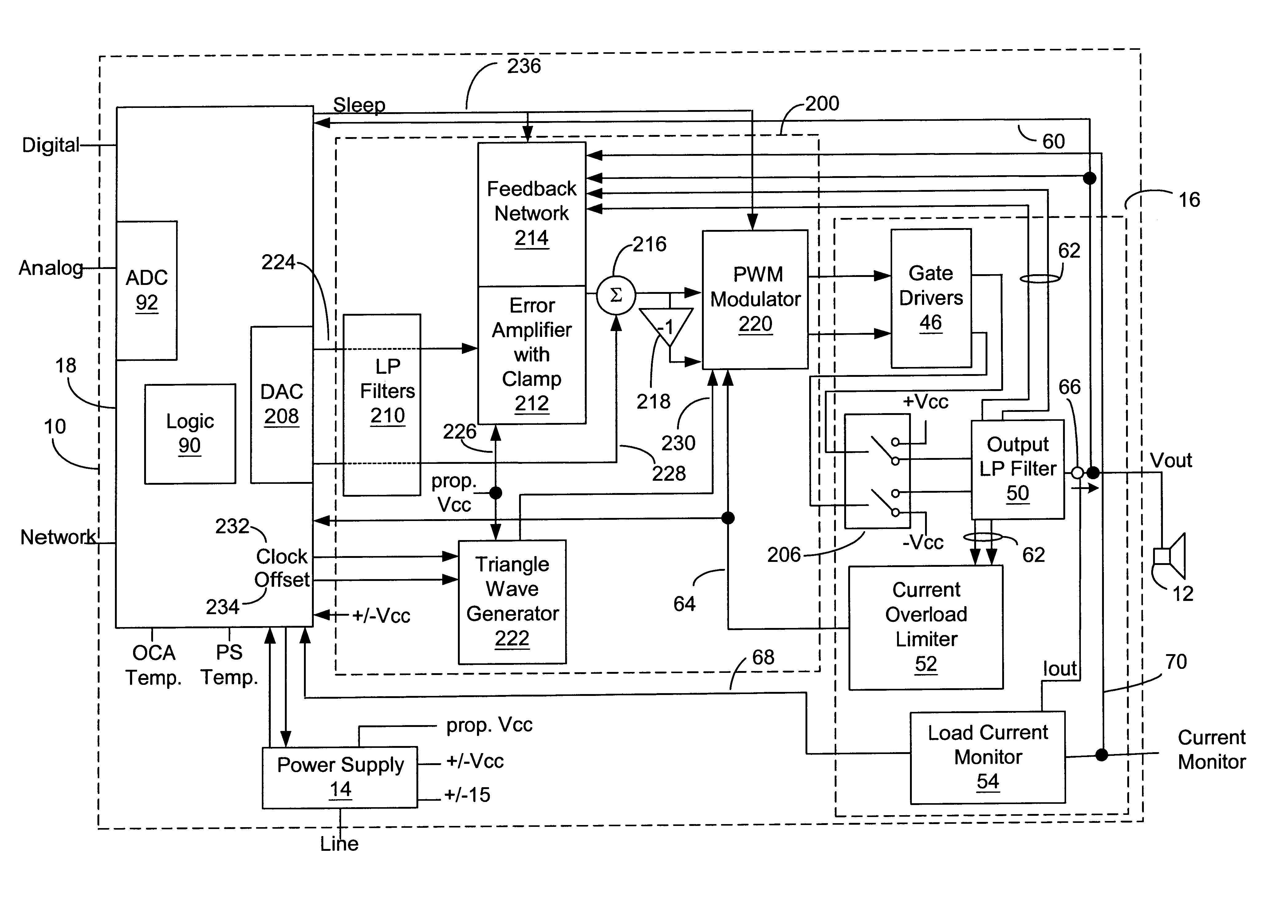 patent us6683494 - digital signal processor enhanced pulse width modulation amplifier