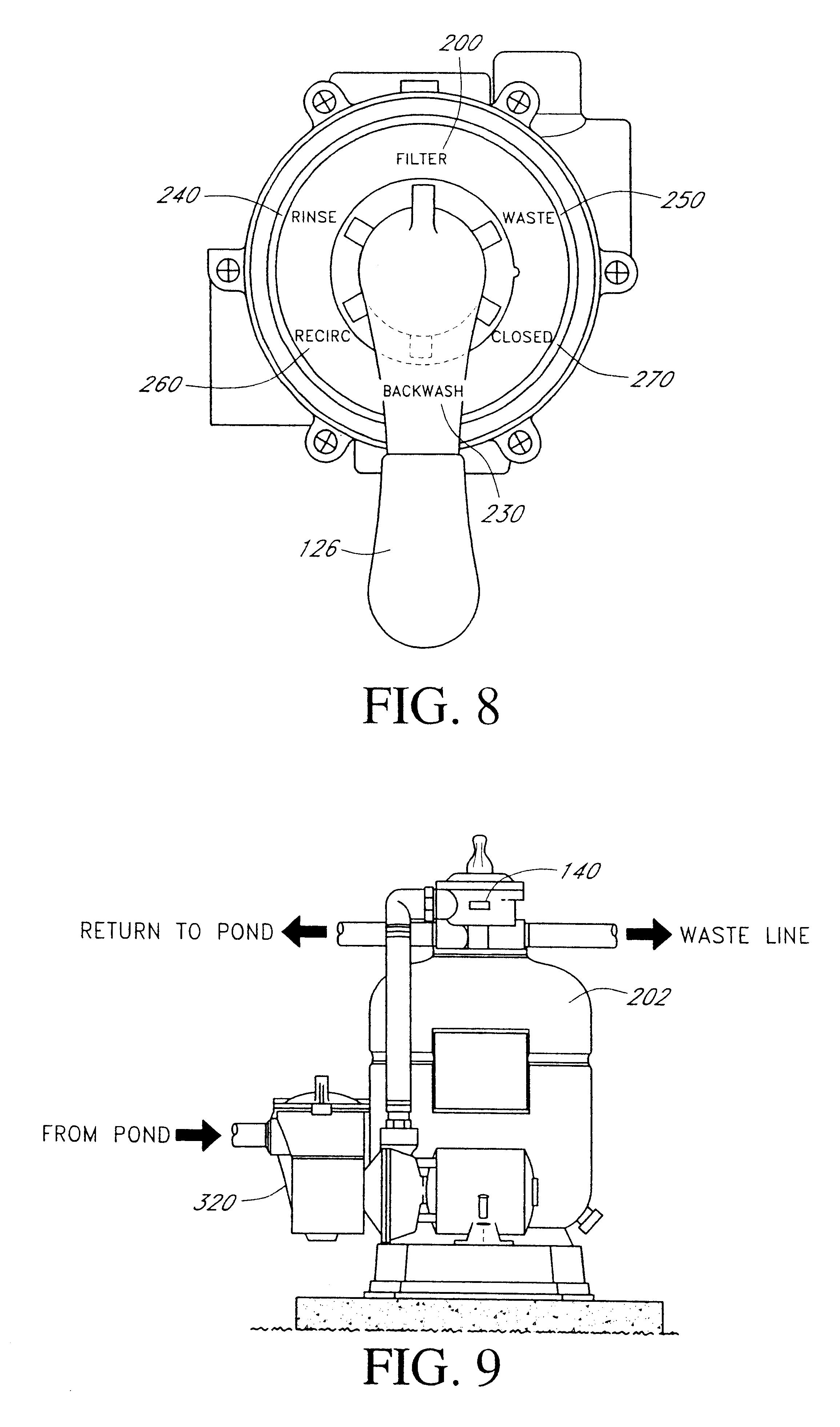 Patent US6685826 - Fish pond filter system - Google Patents