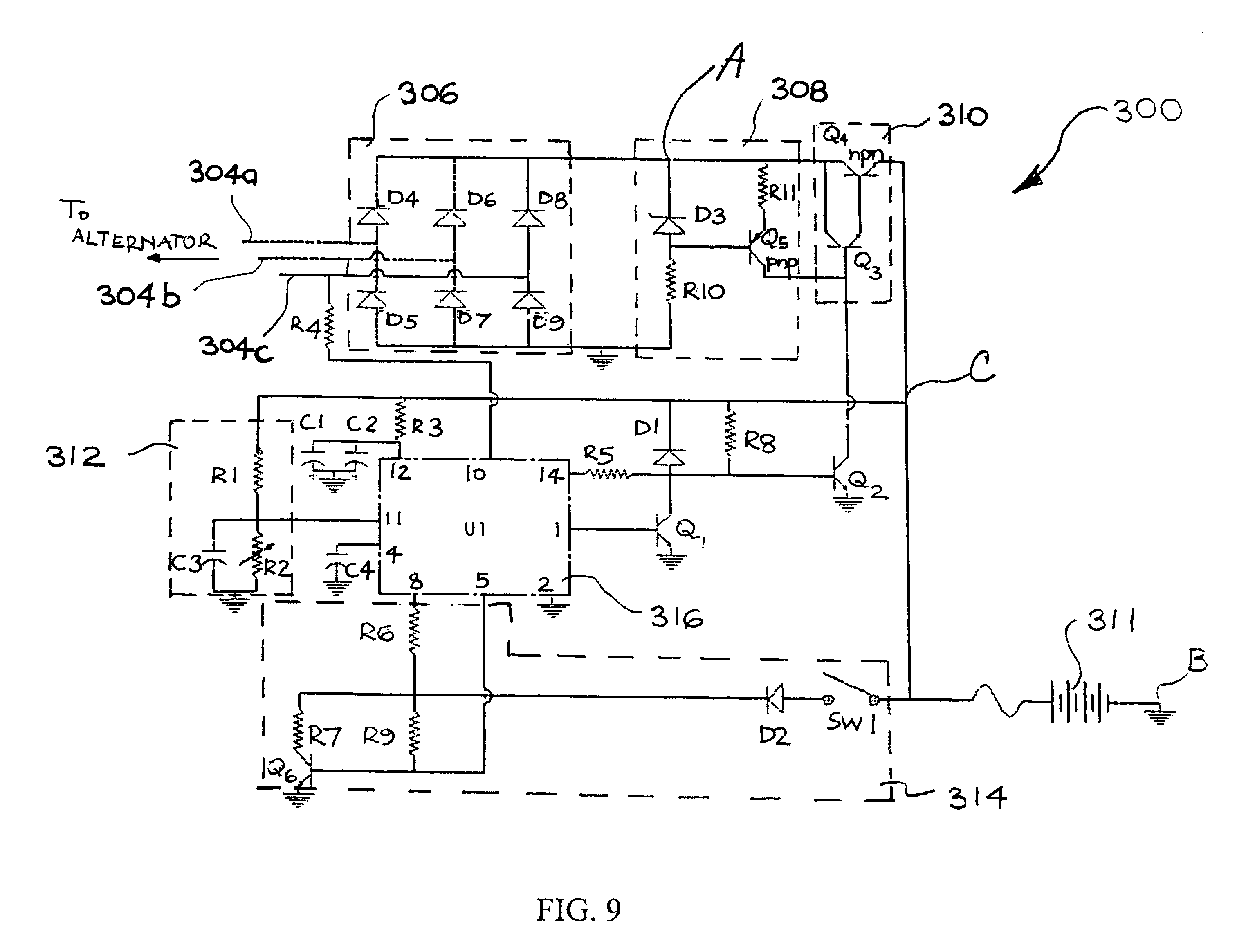 patent us6690145 permanent magnet alternator and voltage patent drawing