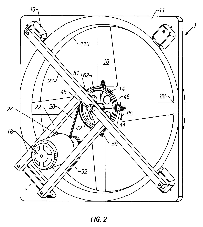 Fan Blade Drawing : Patent us molded fan having repositionable blades
