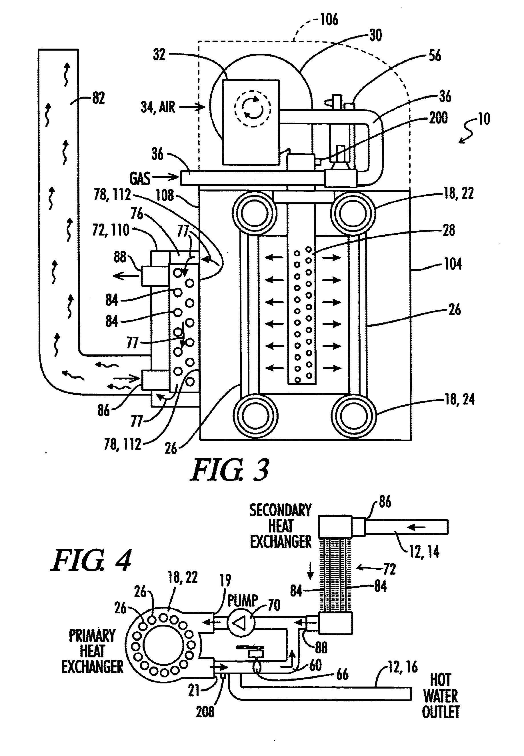 patent us6694926 - water heater with continuously variable air and fuel input