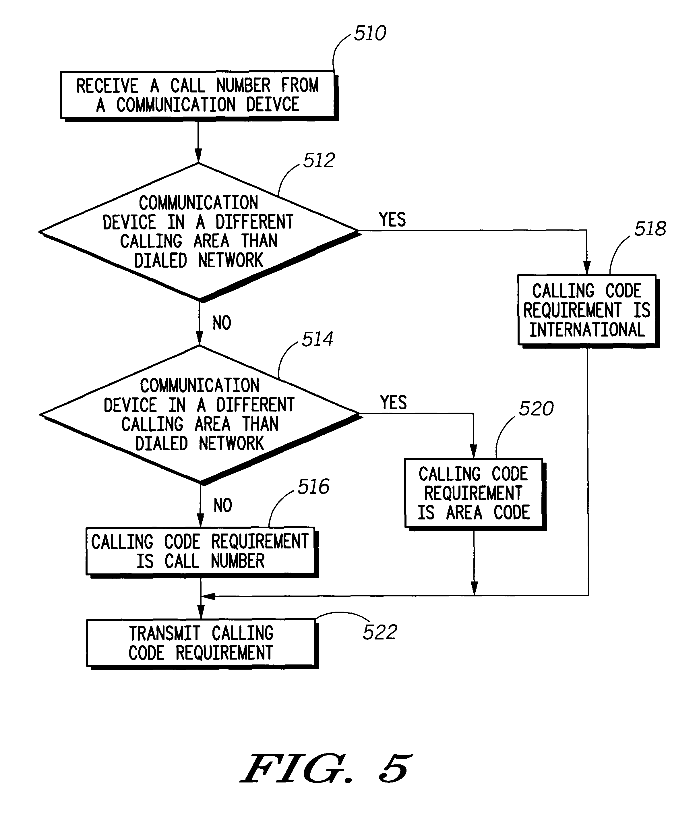 Patent US6704566 Communication device for placing calls within a