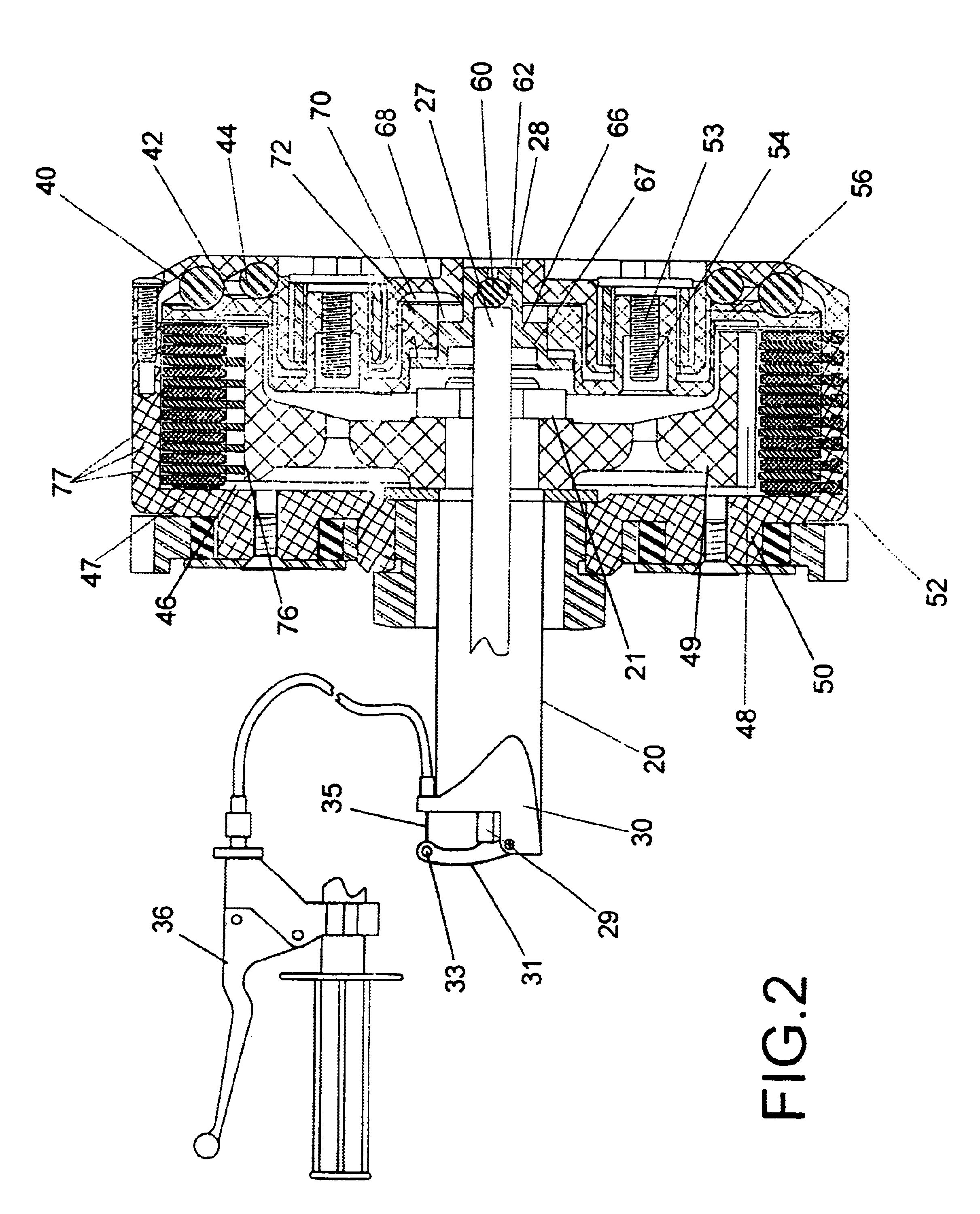 patent us6705446 - automatic clutch with manual override control mechanism