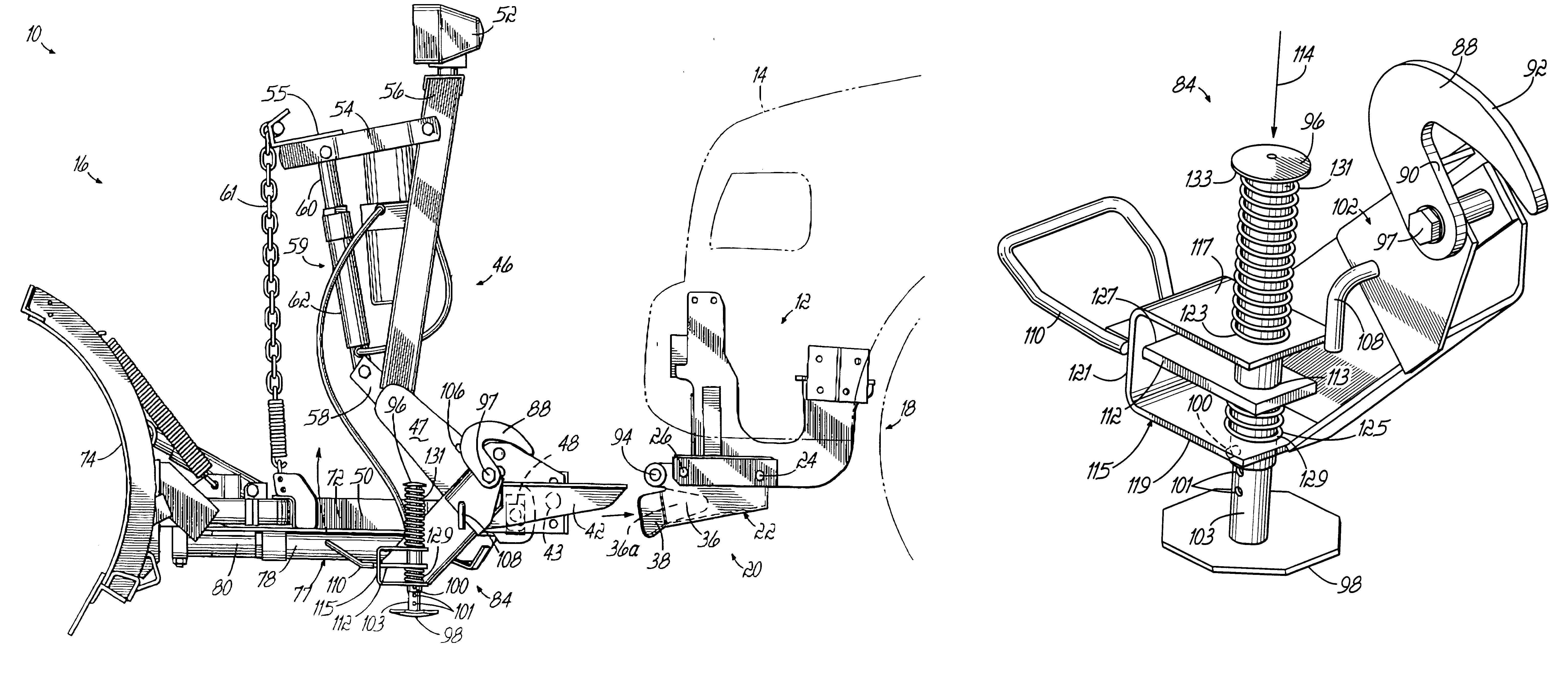 patent us6711837 snowplow mounting assembly google patents patent drawing