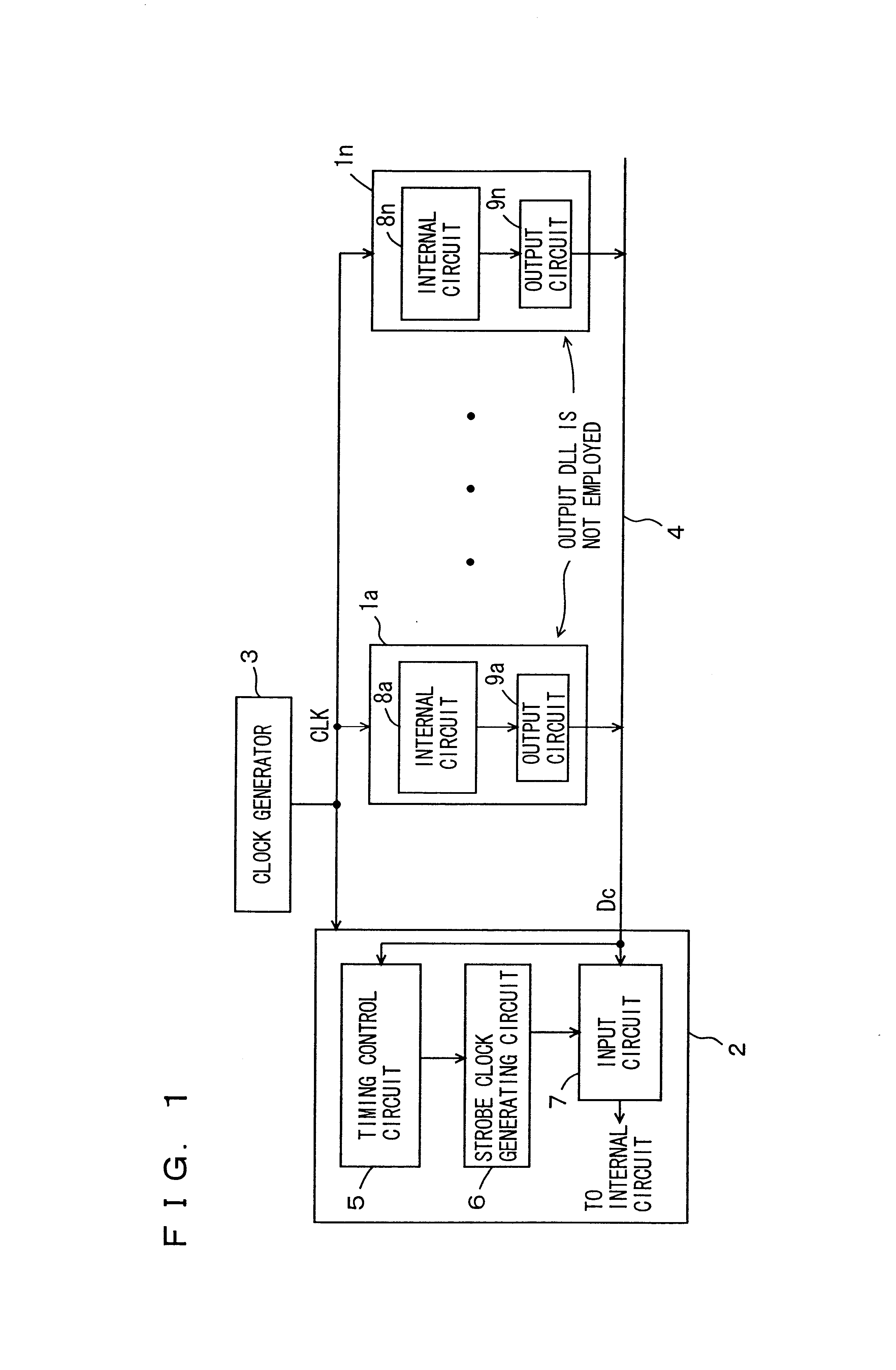 Patent Us6715096 Interface Circuit Device For Performing Data Schematic Of Basic Strobe Drawing