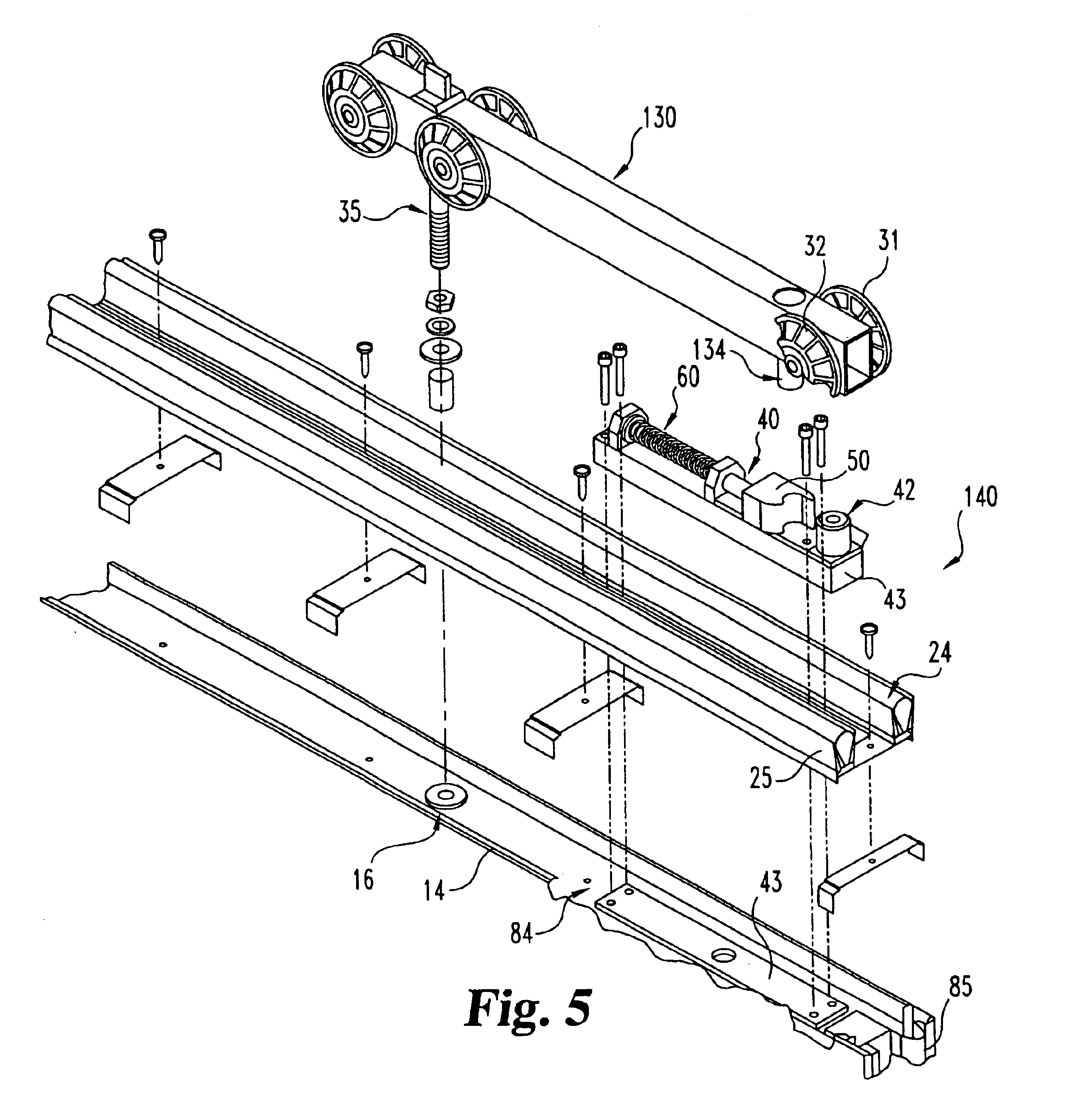 Patent Us6715530 Latch Assembly System For Operable Wall Panels 2008 Mitsubishi Lancer Engine Diagram Drawing