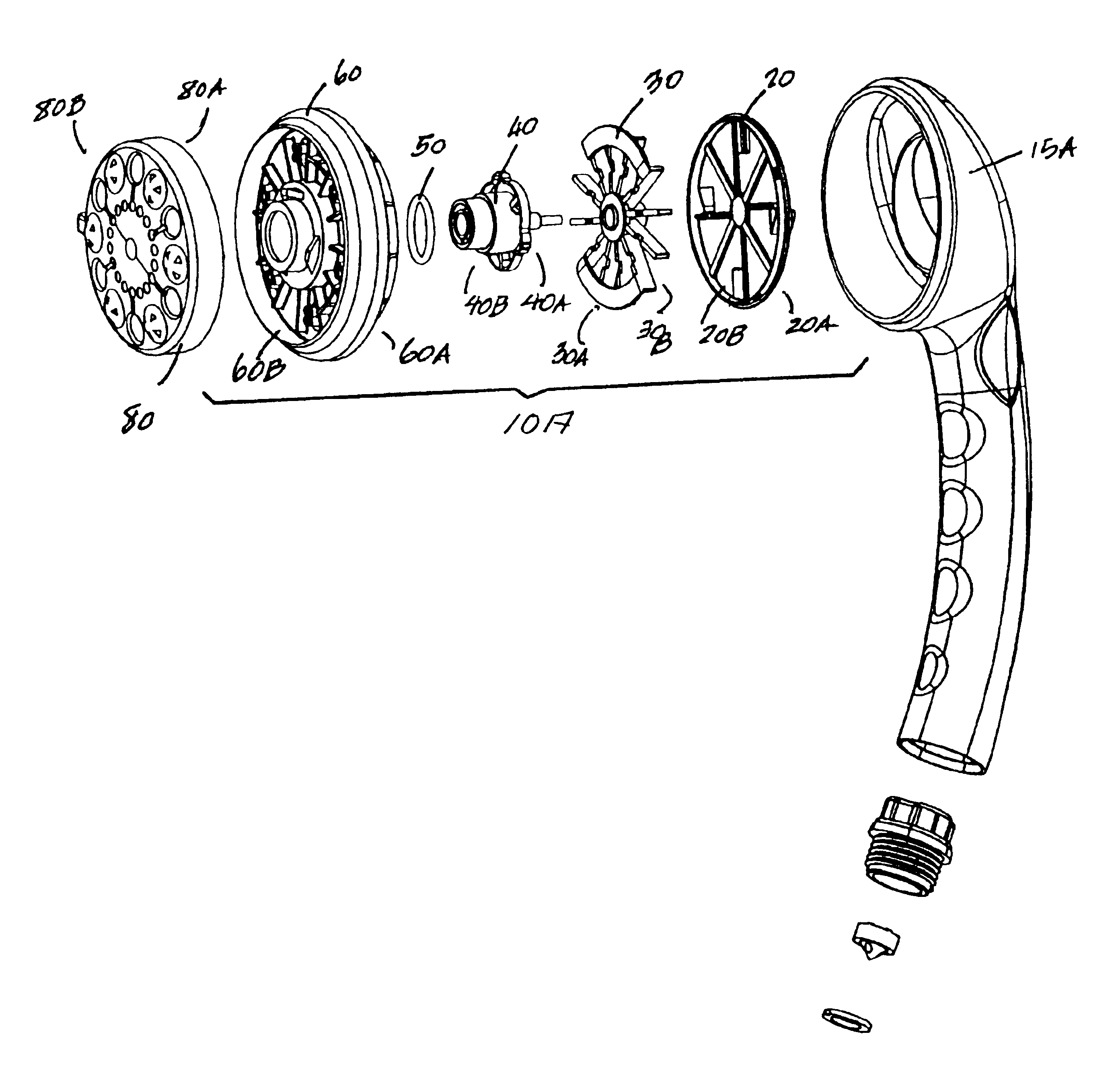 Shower Head Drawing patent us6715699 - showerhead engine assembly - google patents