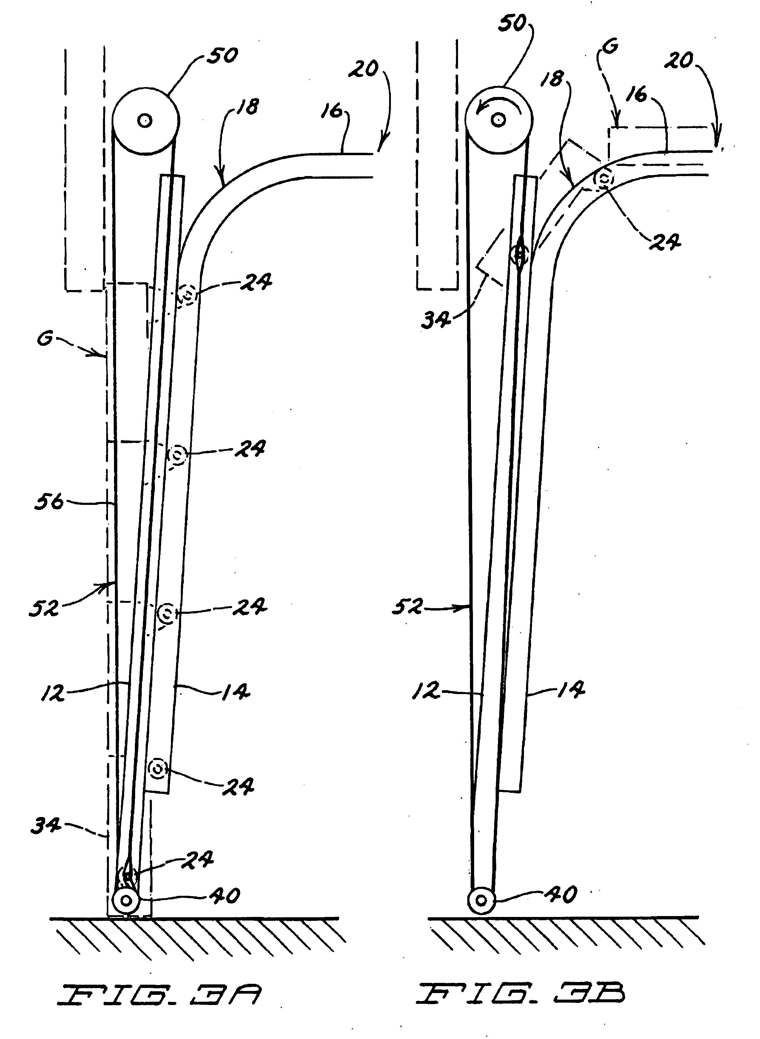 Patent Us6719033 Power Operated Multi Paneled Garage