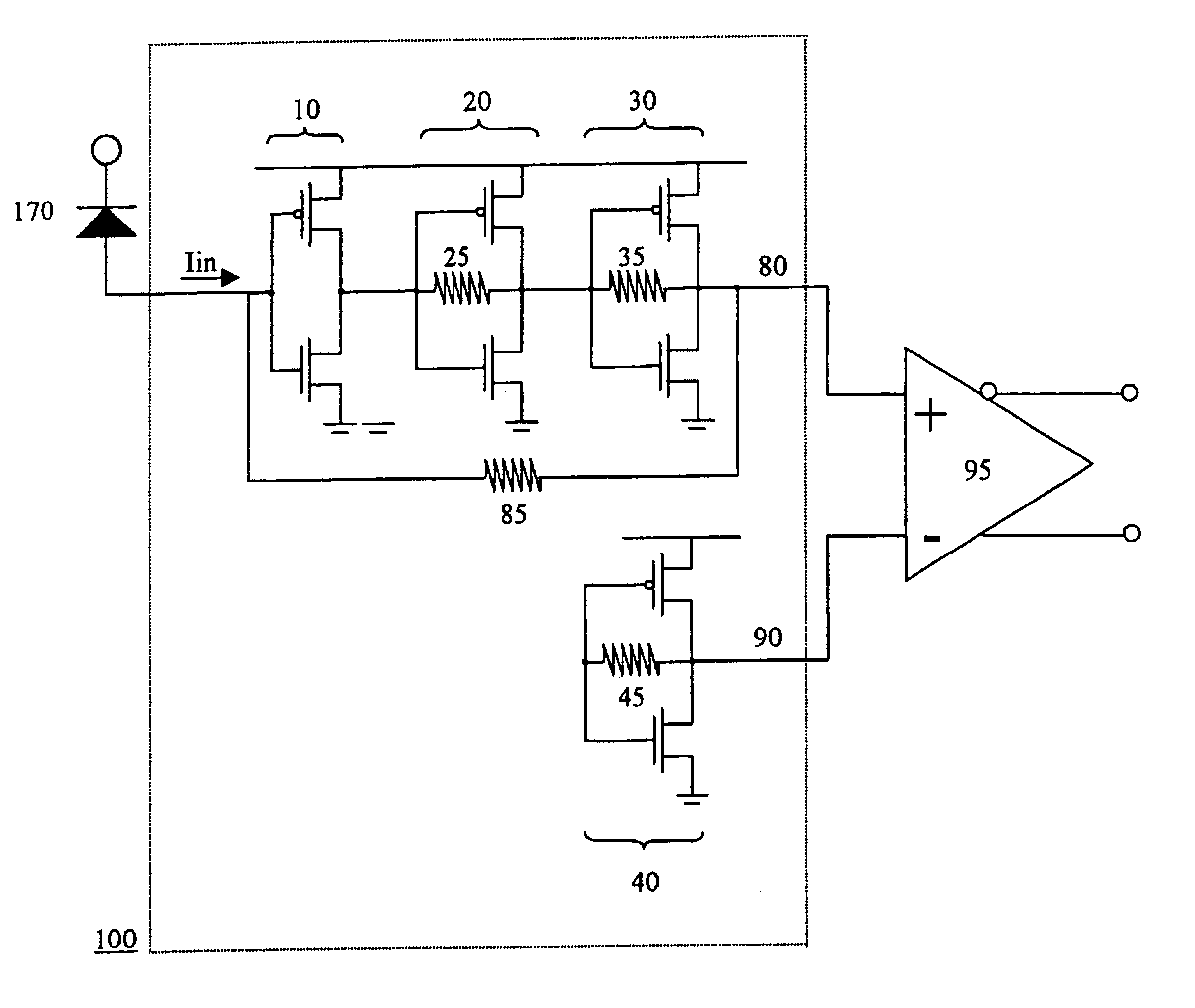 Patent Us6720826 Transimpedance Amplifier Google Patents Circuit Diagram Electronic Circuits Drawing