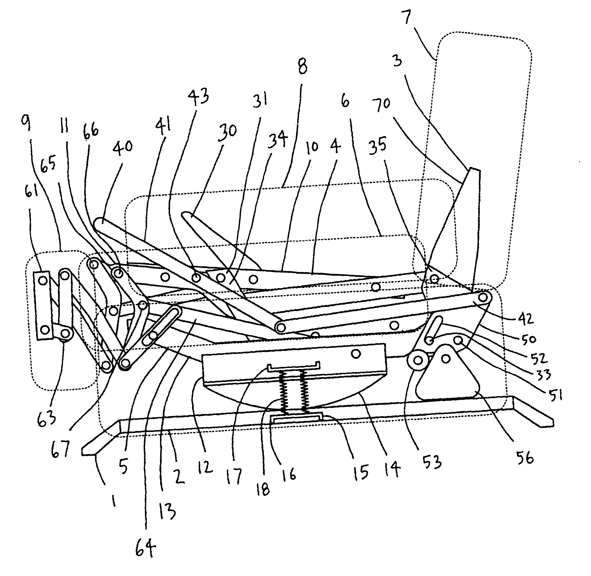 Patent Drawing  sc 1 st  Google & Patent US6733071 - Self-locking rocker recliner chair - Google Patents islam-shia.org
