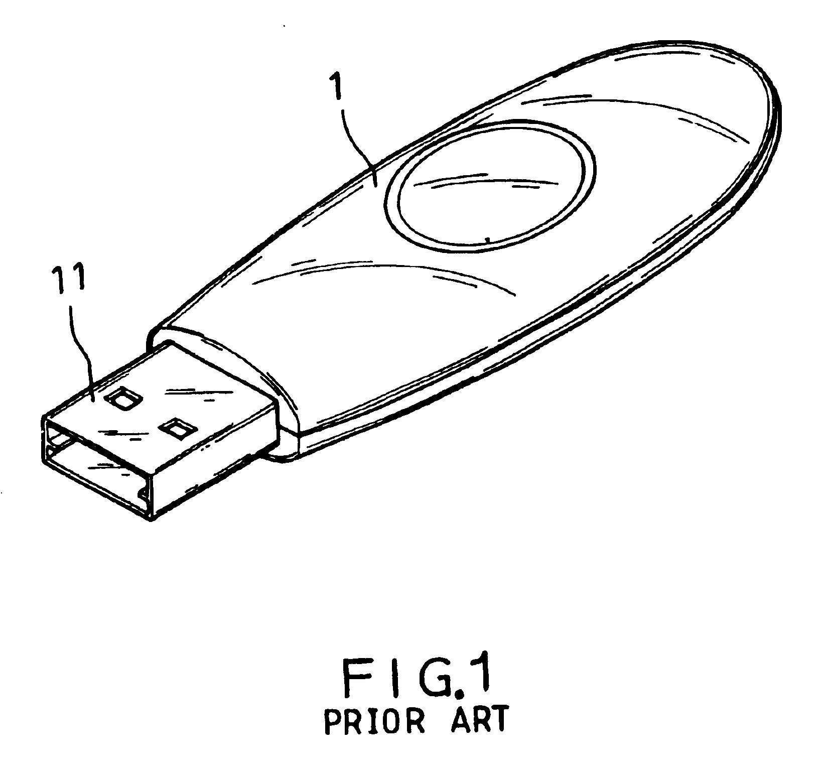 patent us6733329 - usb flash drive