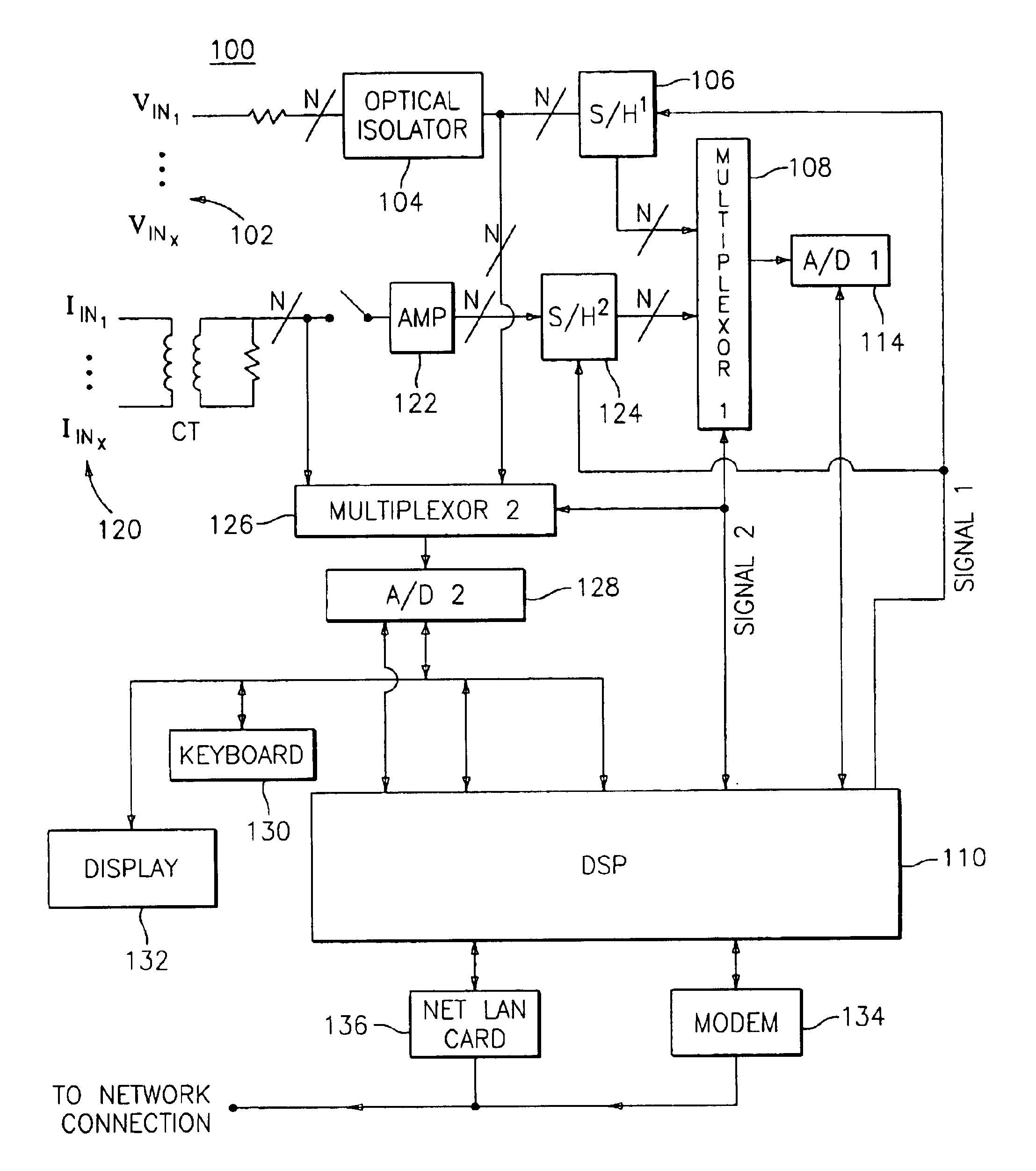 patent us6735535 power meter having an auto calibration feature patent drawing