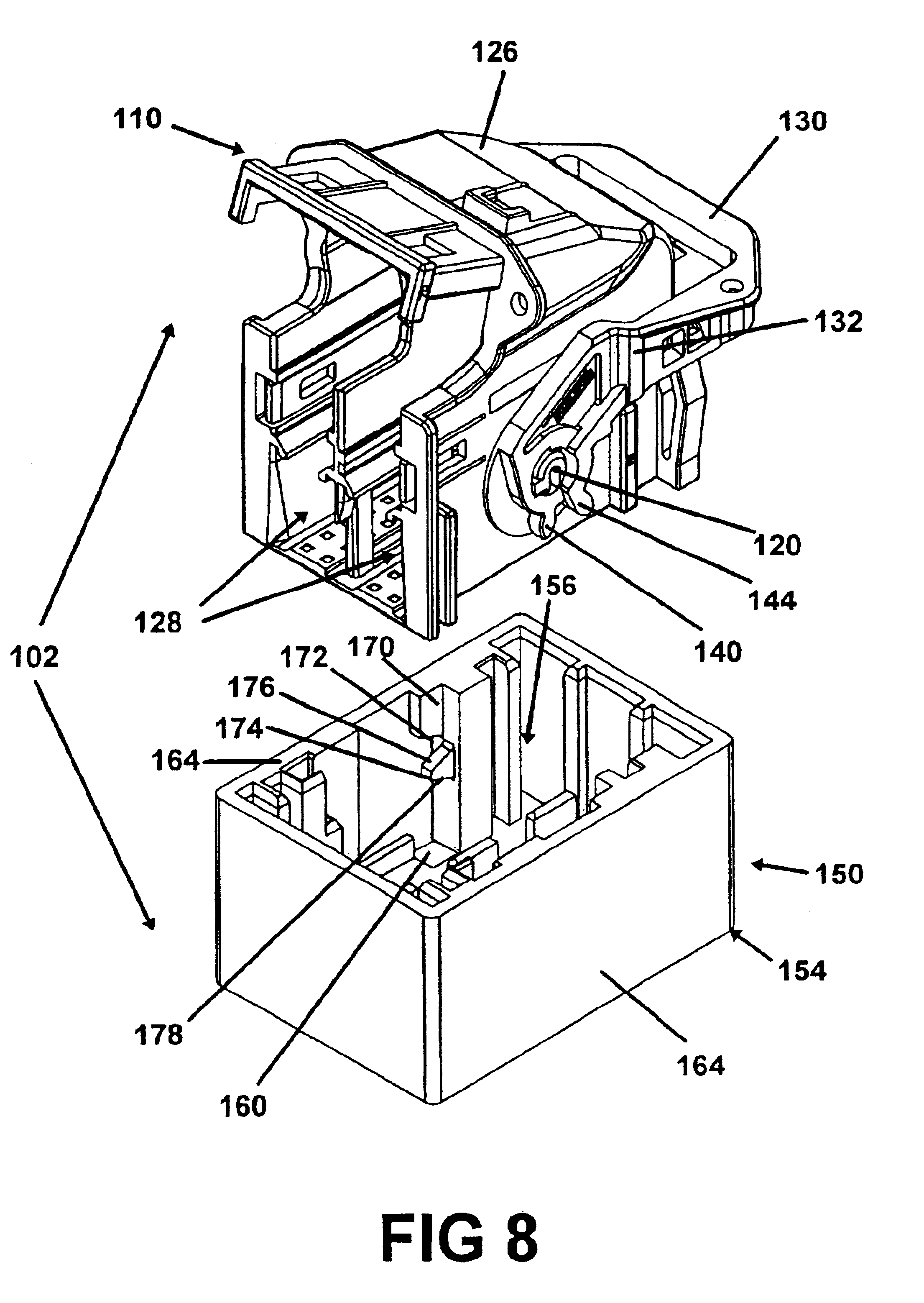 patent us6736655 rack and pinion electrical connector with offset Sumitomo Cable patent drawing