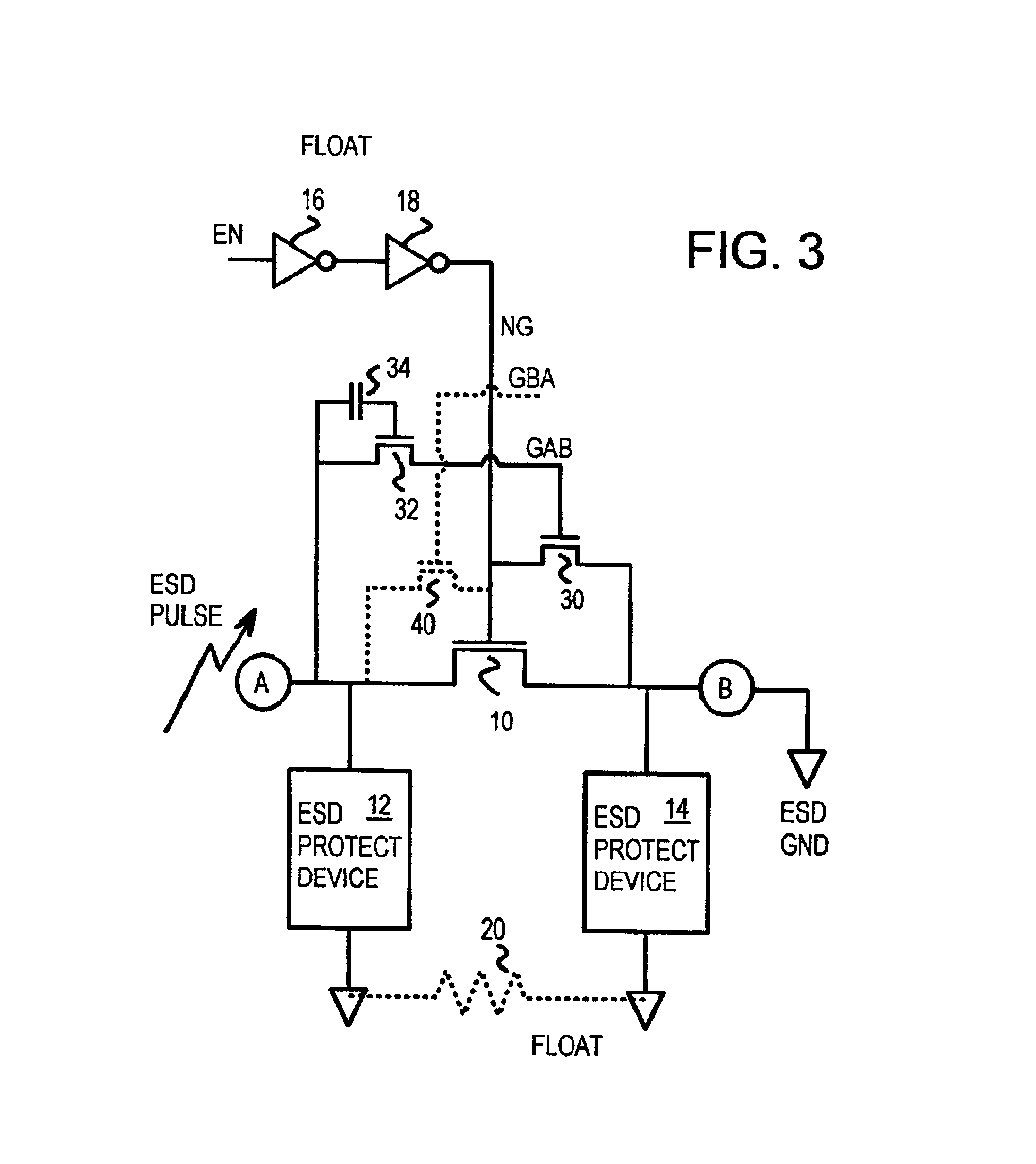Patent Us6738242 Esd Isolation Circuit Driving Gate Of Bus Switch Design Onchip With Mixedmode Simulation Drawing
