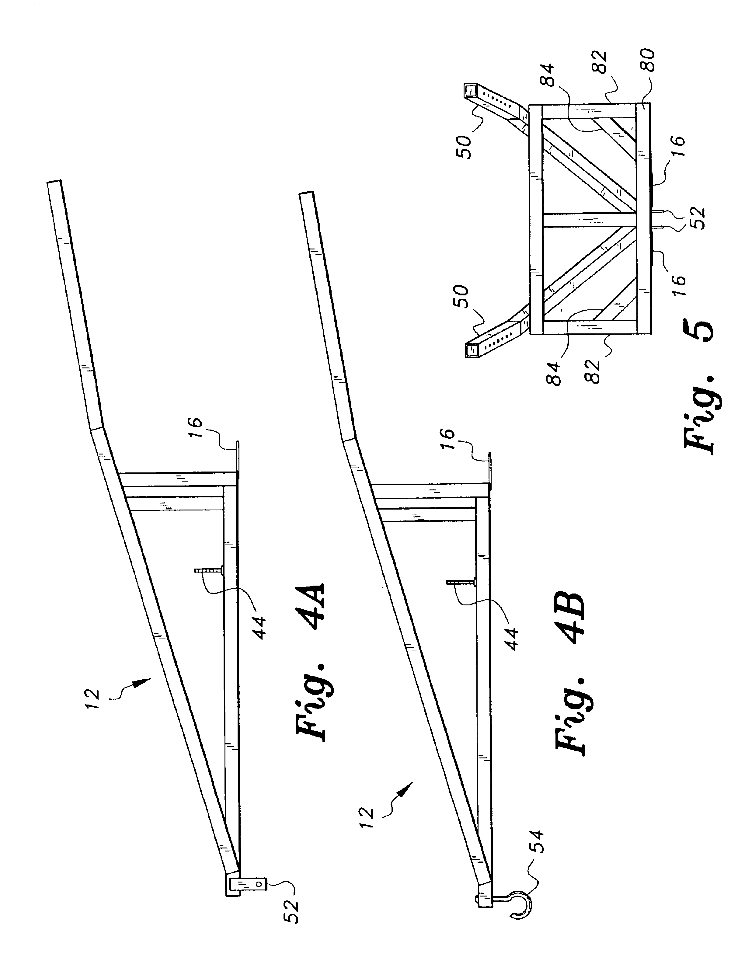 Deer skinning pole plans - Patent Drawing