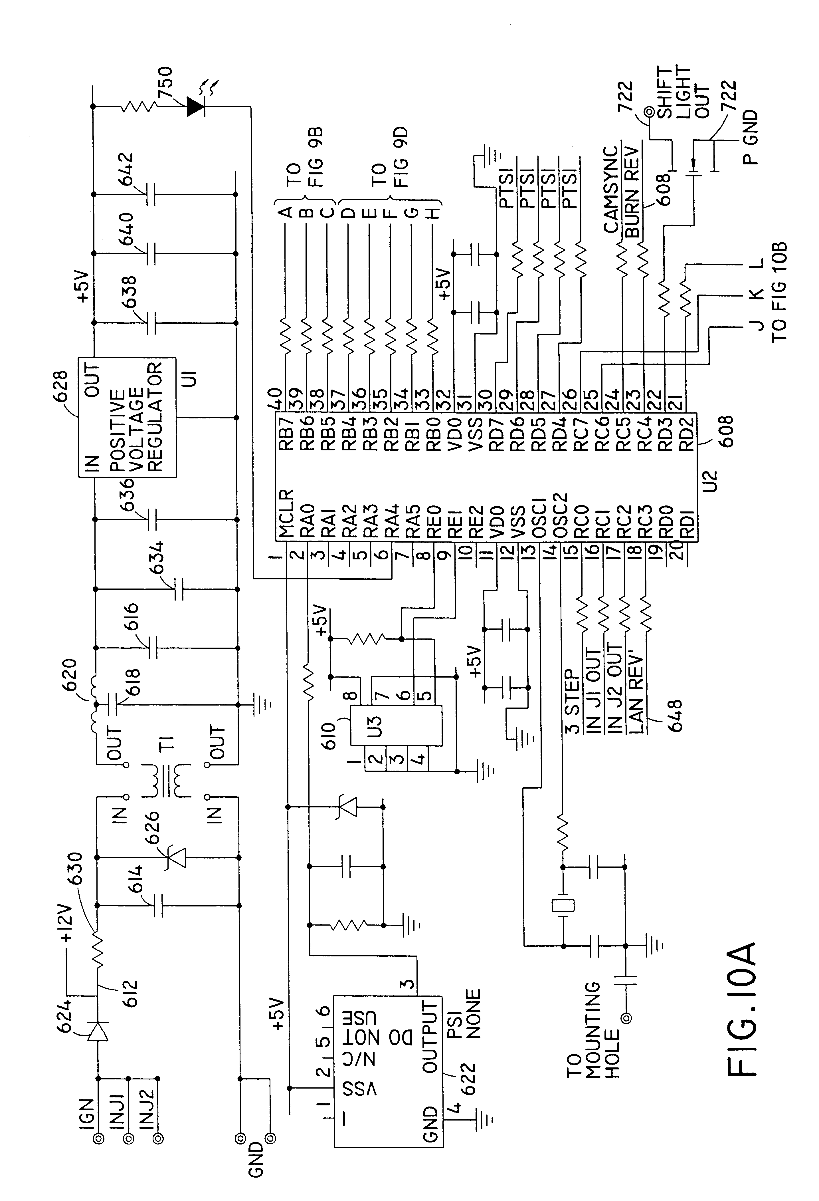 Patent Us6741925 User Interface For Electronic Controller And 7530 Msd Rpm Activated Switch Wiring Diagram Drawing