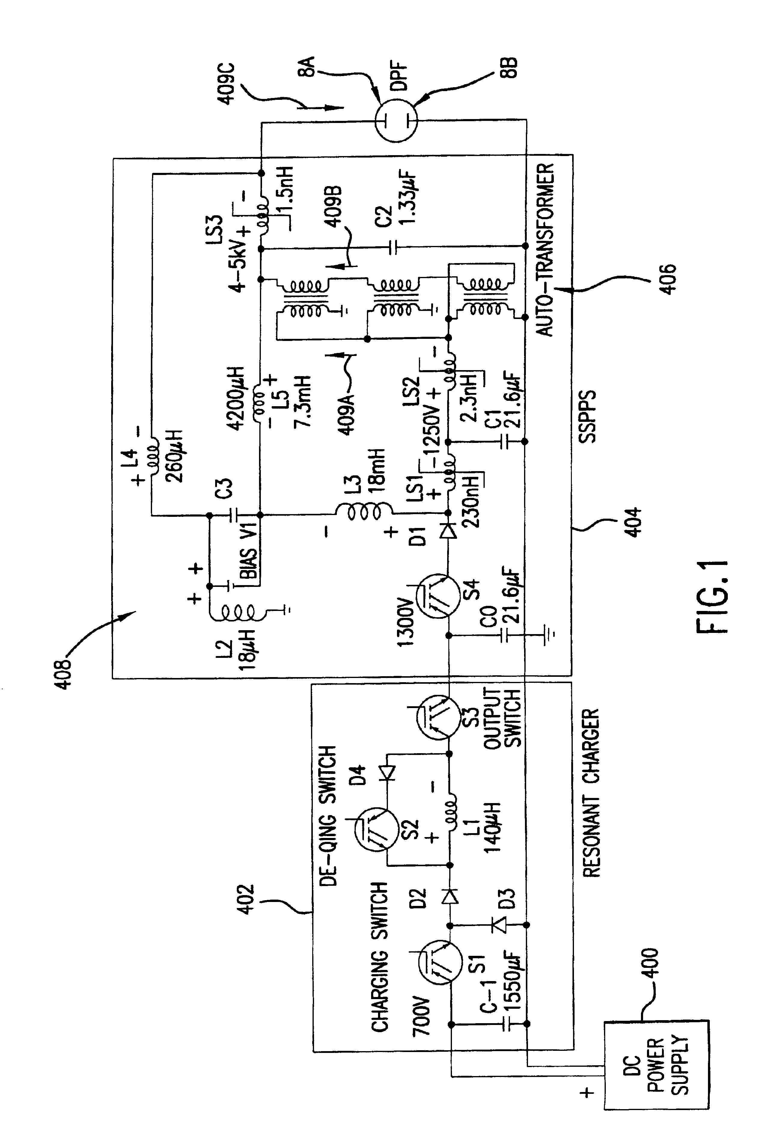 patent us6744060 - pulse power system for extreme ultraviolet and x-ray sources