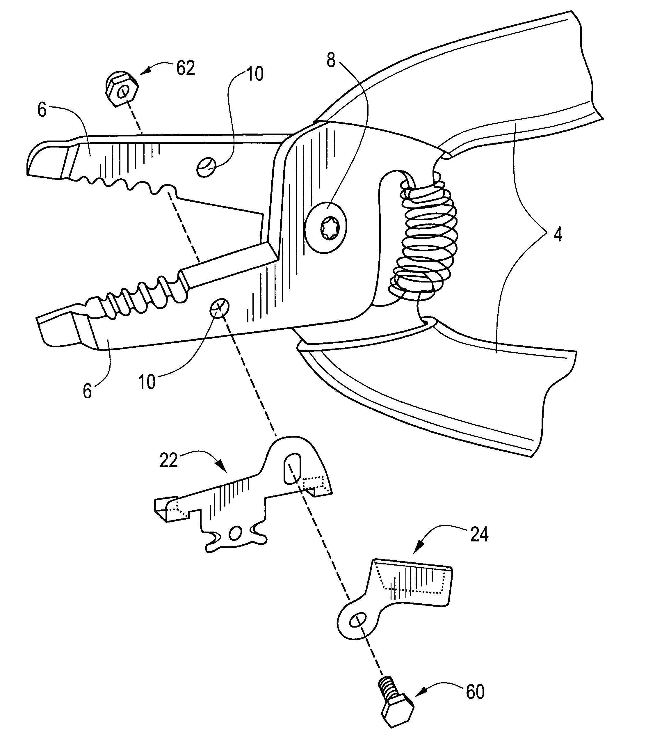 patent us6745473 - cable sheathing slitter for a wire stripper tool