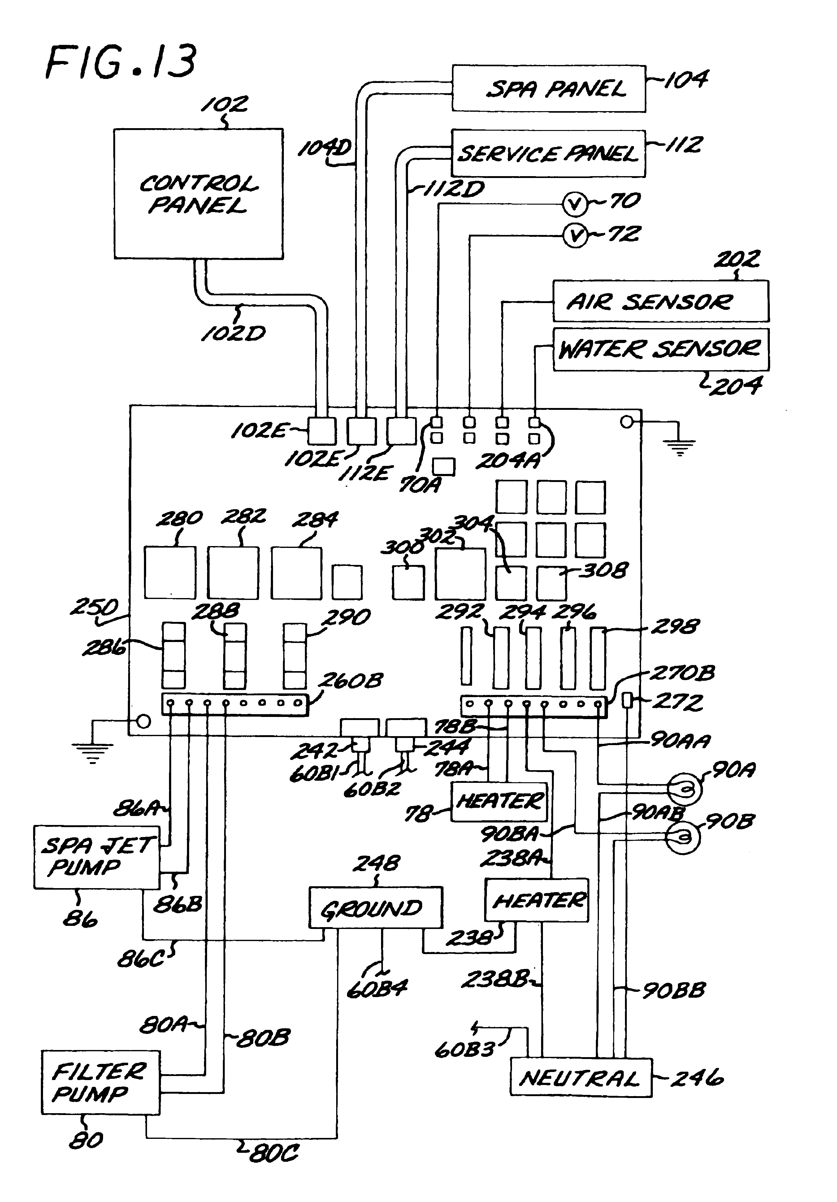 US06747367 20040608 D00007 patent us6747367 controller system for pool and or spa google spa wiring diagram schematic at n-0.co